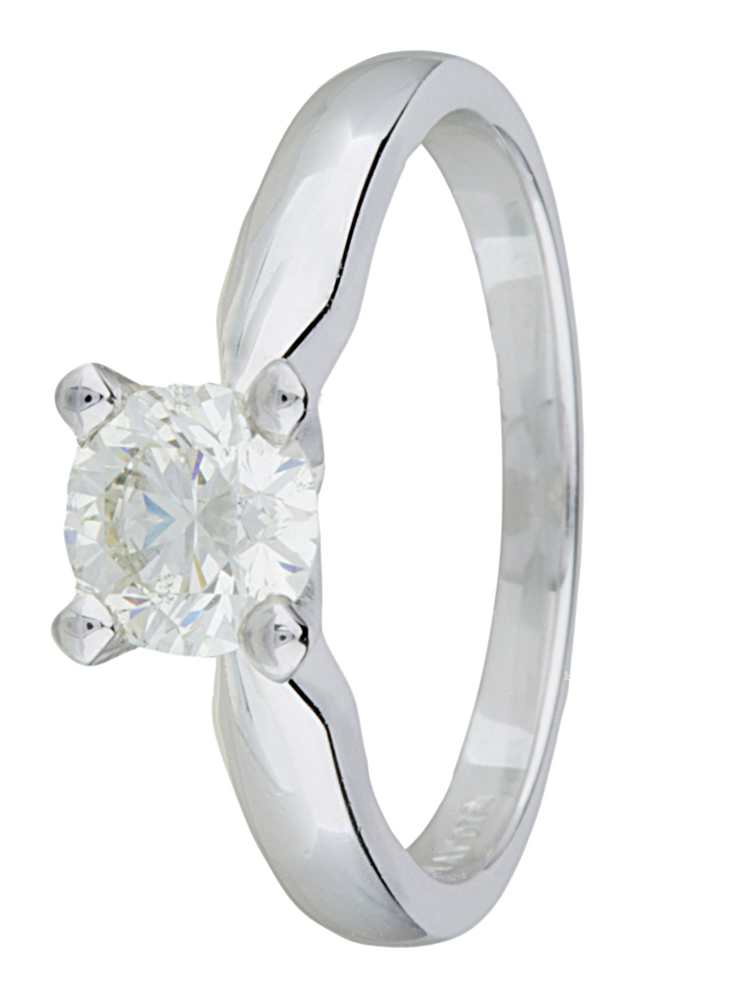 Platinum 0.75ct diamond ring - Silver