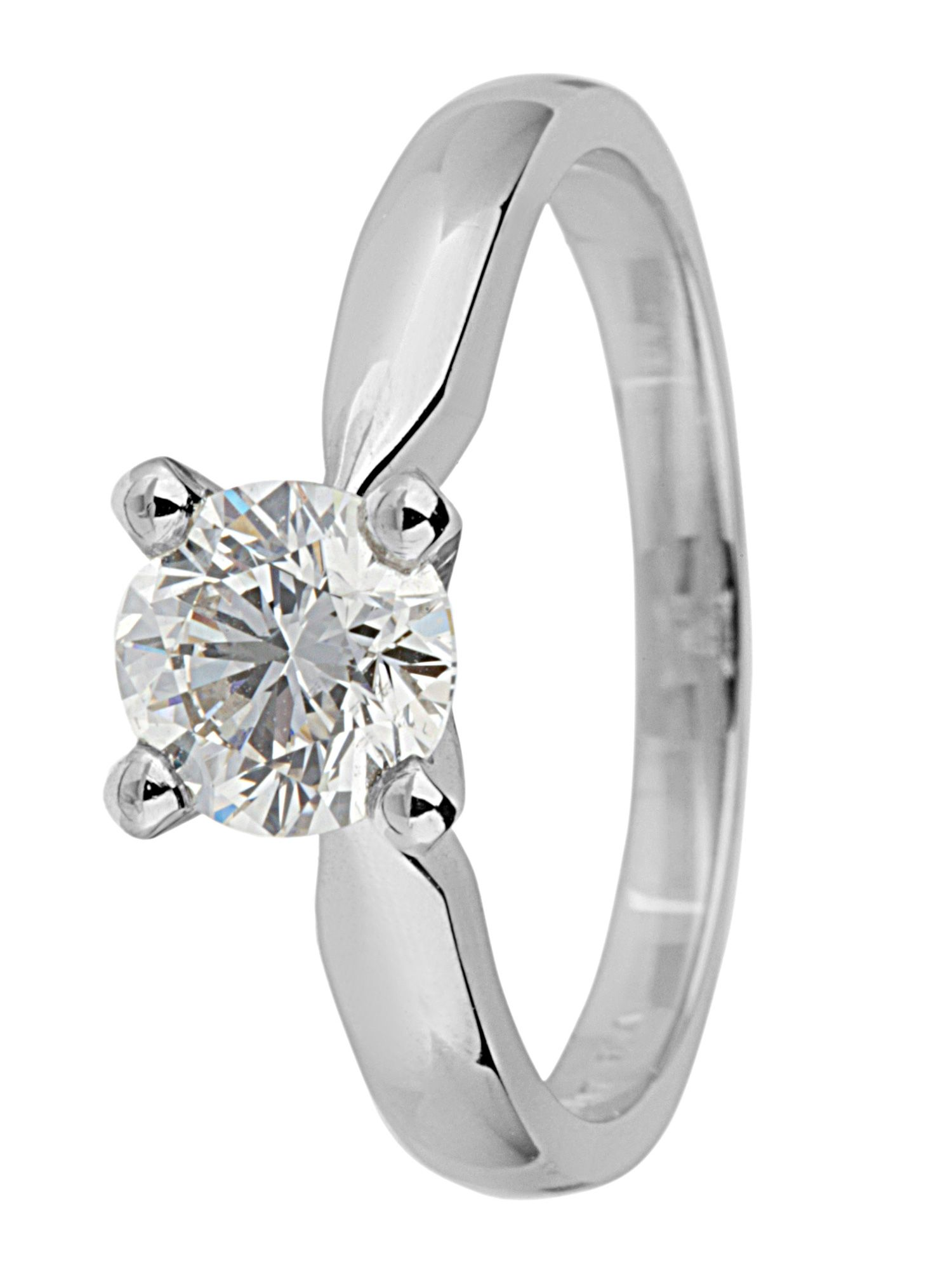 Platinum 1.00ct solitaire diamond ring - Silver