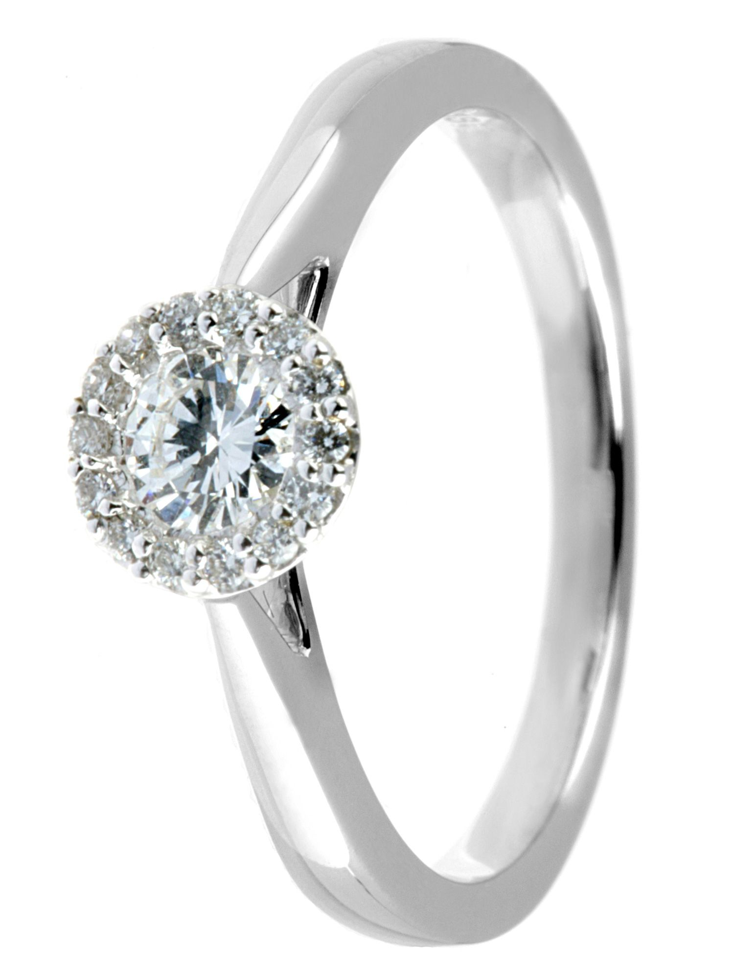 Kissing diamond 18ct gold 0.33ct diamond ring - White Gold