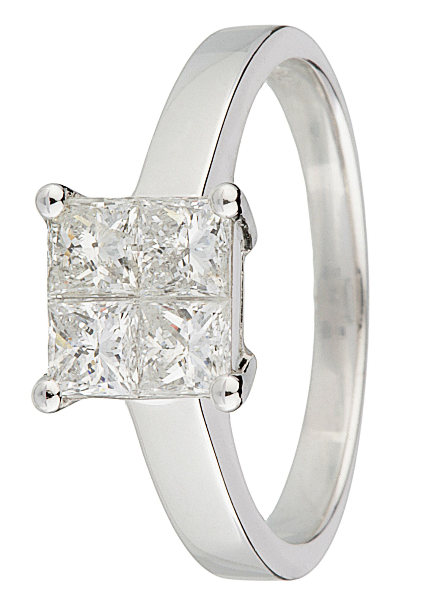 18ct gold 1.00ct diamond solitaire ring - White Gold