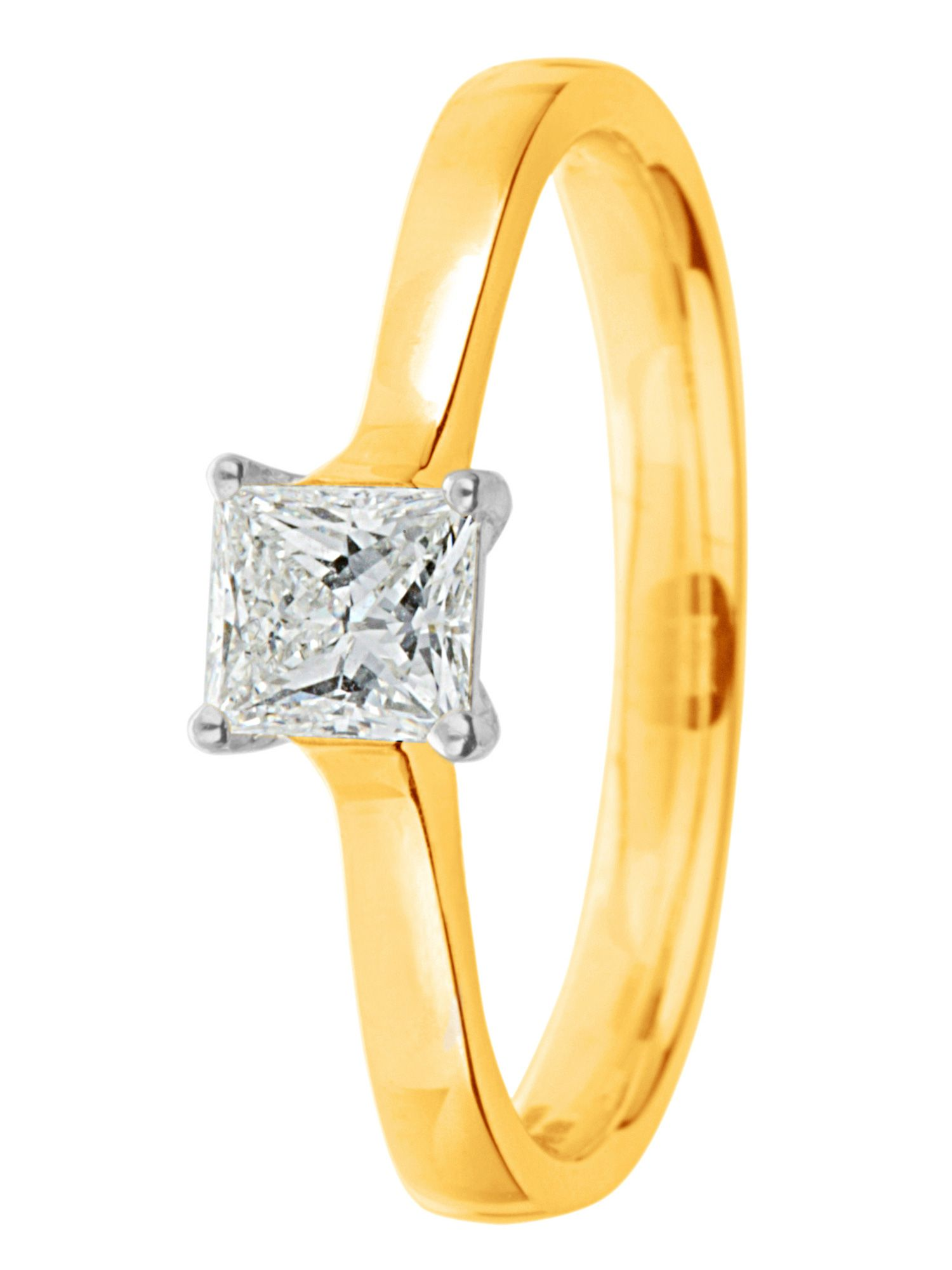 Goldsmiths Ardesco 18ct gold diamond solitaire Gold