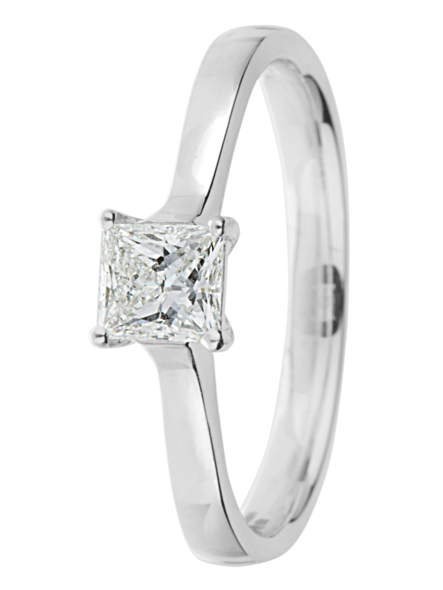 Goldsmiths Ardesco platinum 0.25ct diamond solitaire Silver