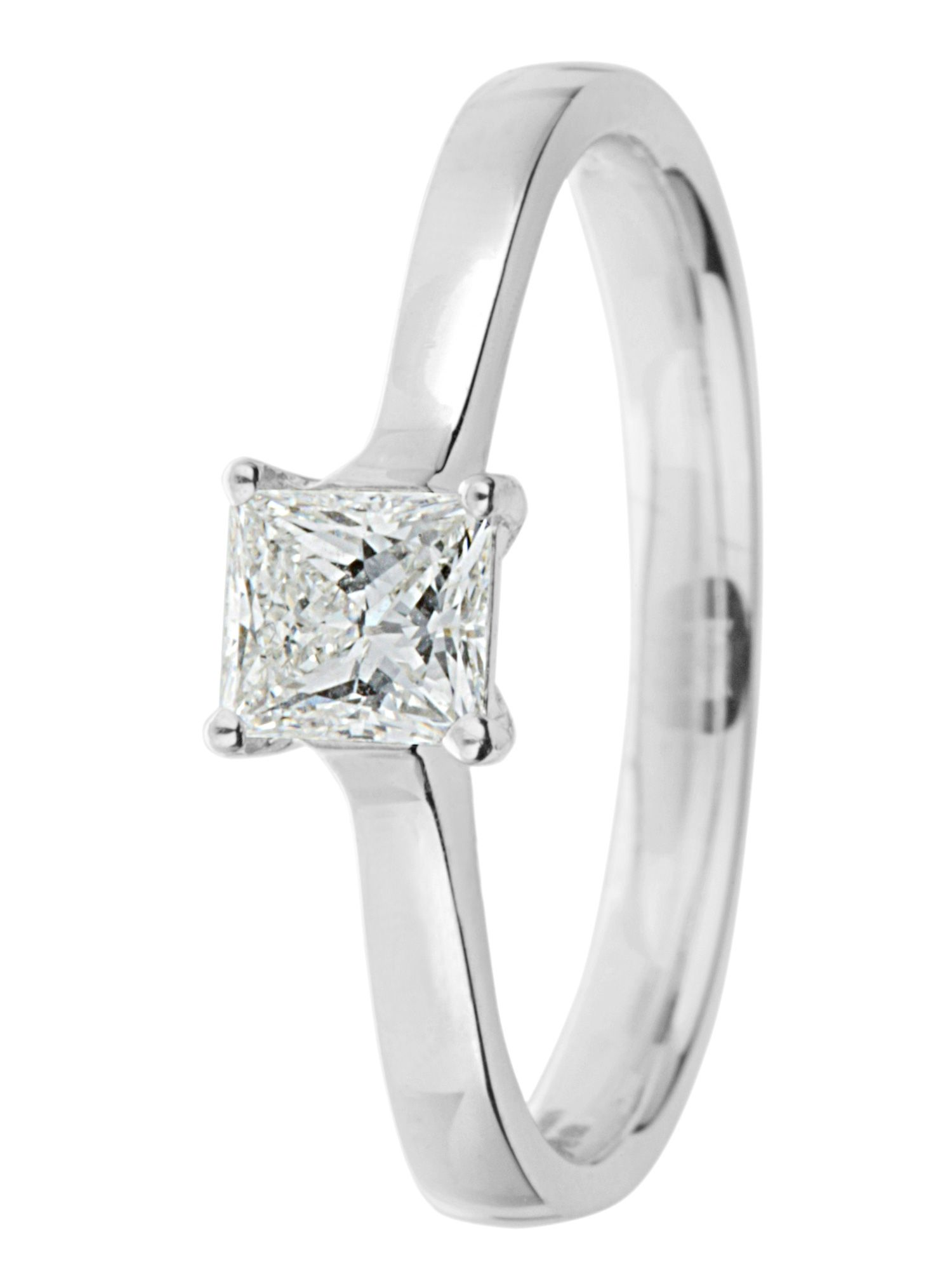 Ardesco platinum 0.50ct diamond solitaire