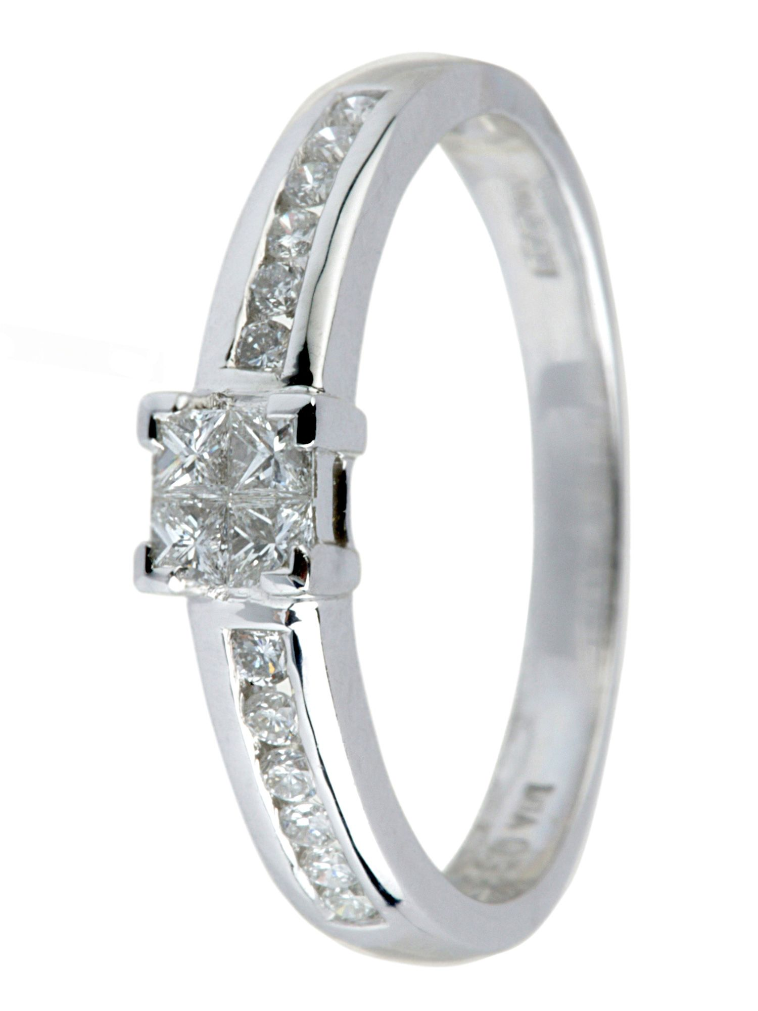 18ct gold 0.50ct solitaire diamond ring - White Gold