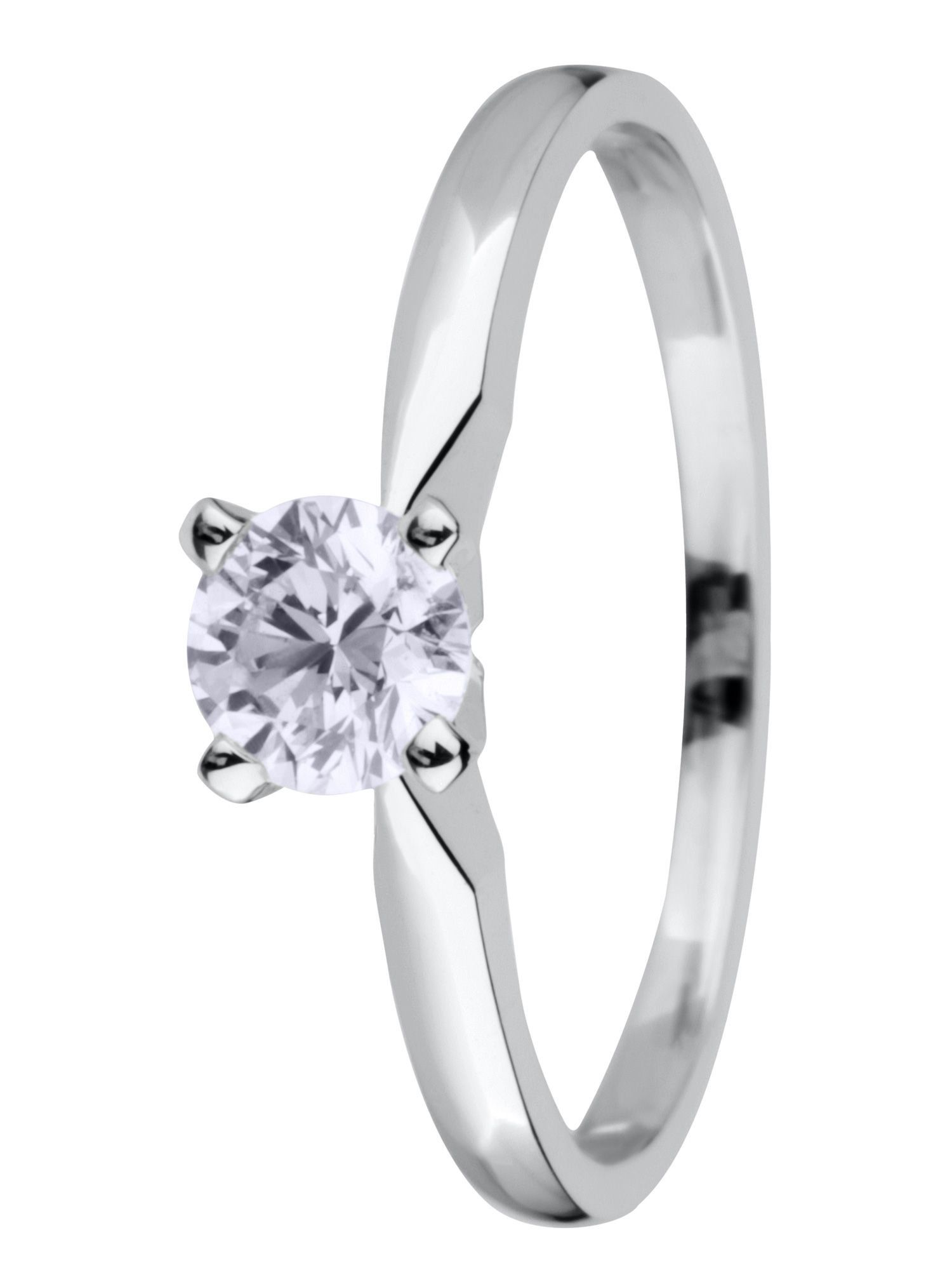 18ct gold 0.75ct solitaire diamond ring - White Gold