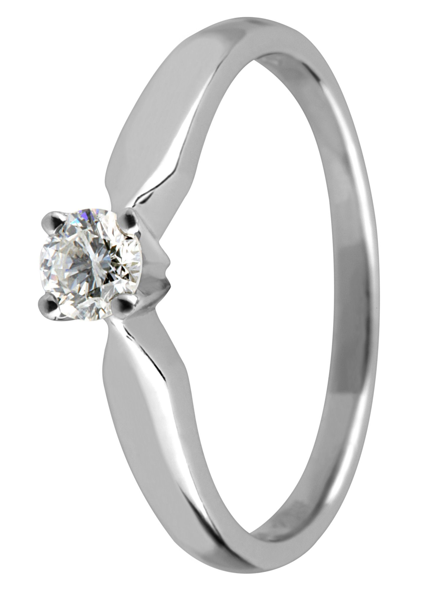 Platinum 0.33ct solitaire diamond ring - Silver
