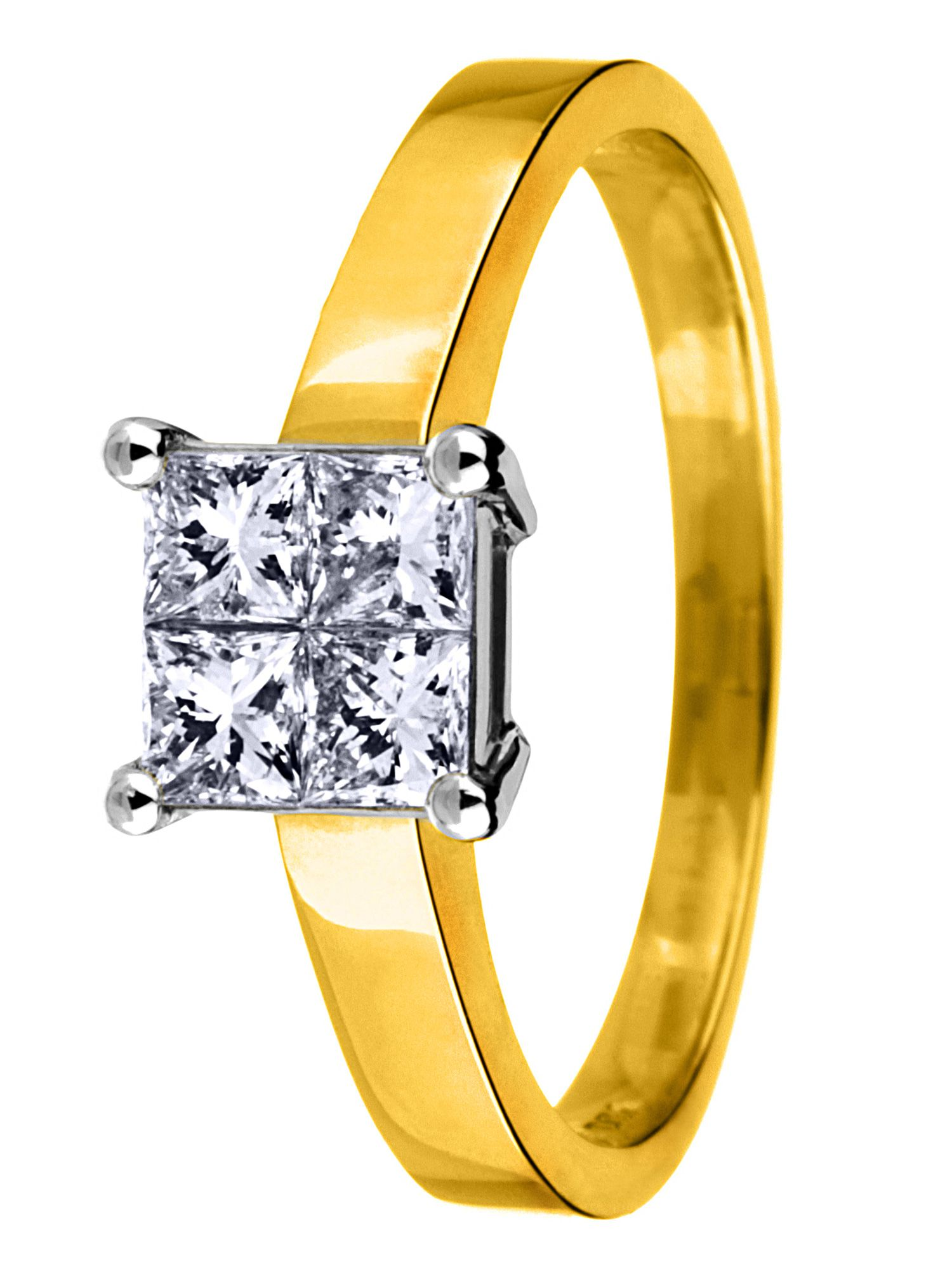 18ct gold 0.25ct solitaire diamond ring - Gold