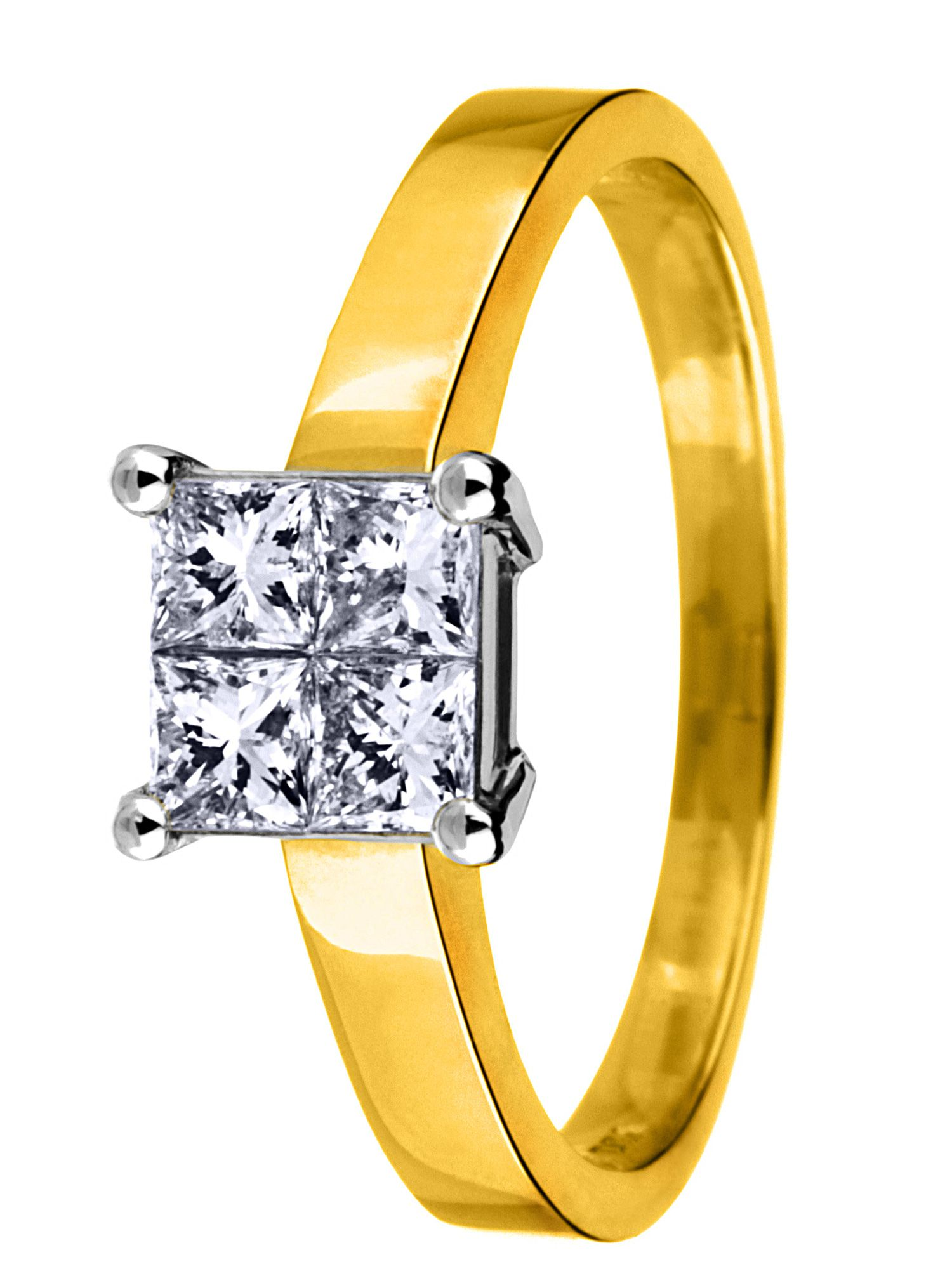 18ct gold 0.33ct solitaire diamond ring - Gold