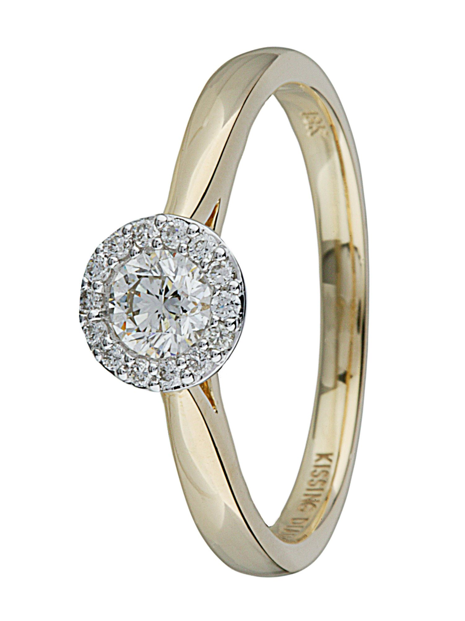 Kissing diamond 18ct gold 0.36ct diamond ring - Gold