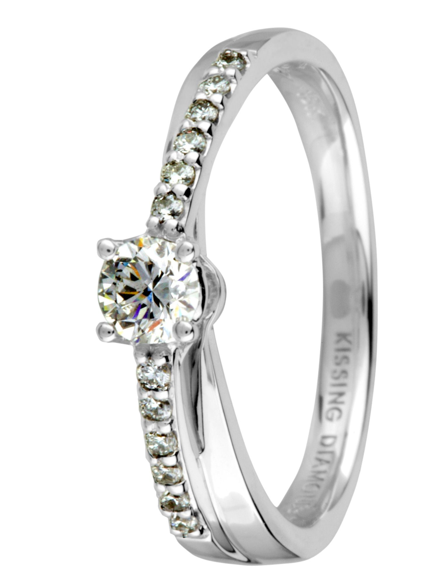 18ct gold 0.40ct diamond ring - White Gold