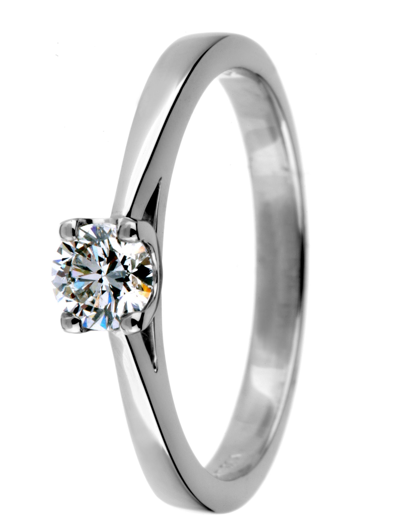 Platinum 0.33ct diamond ring Silver