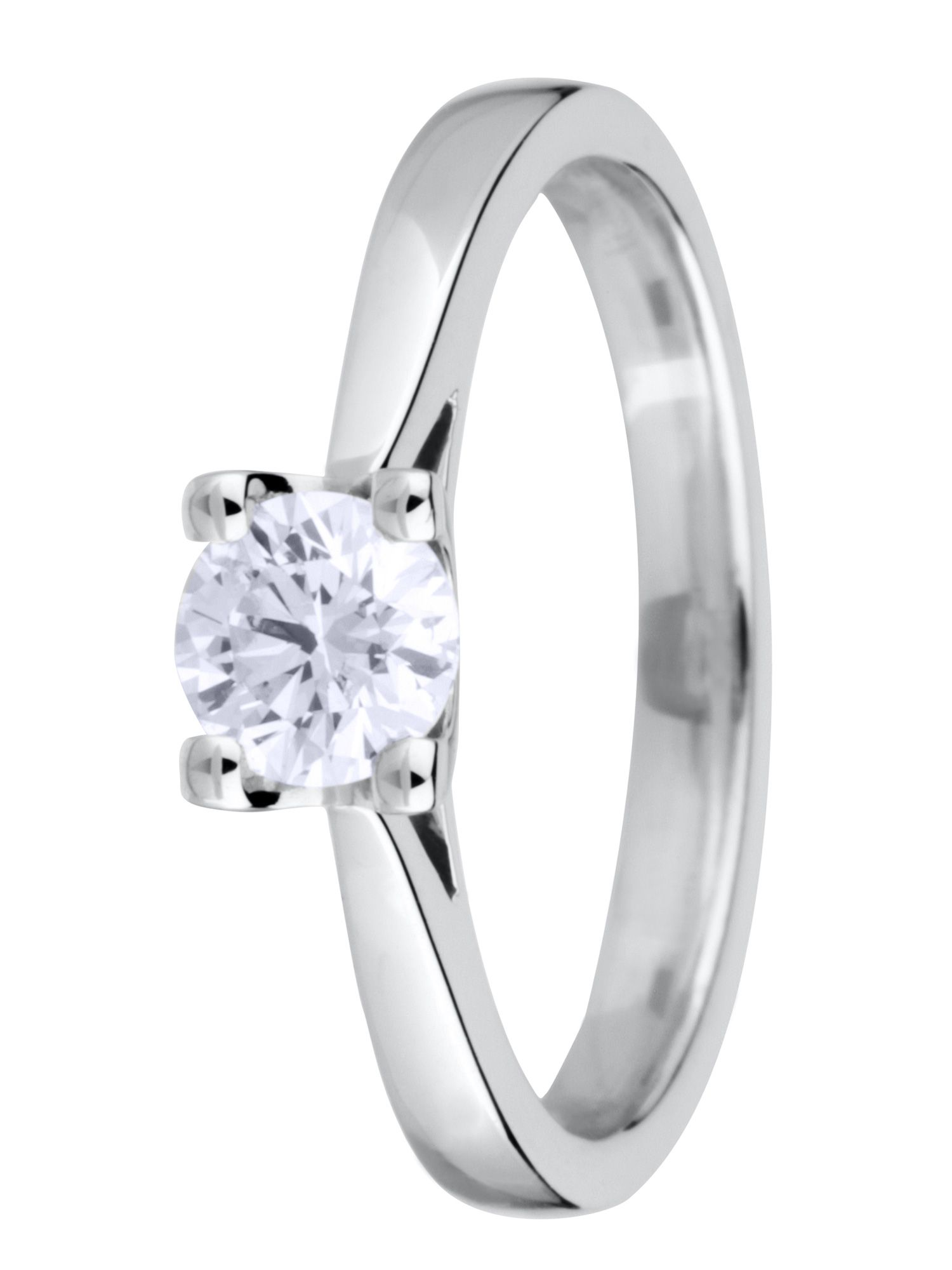 18ct gold 0.50ct brilliant cut diamond ring - White Gold