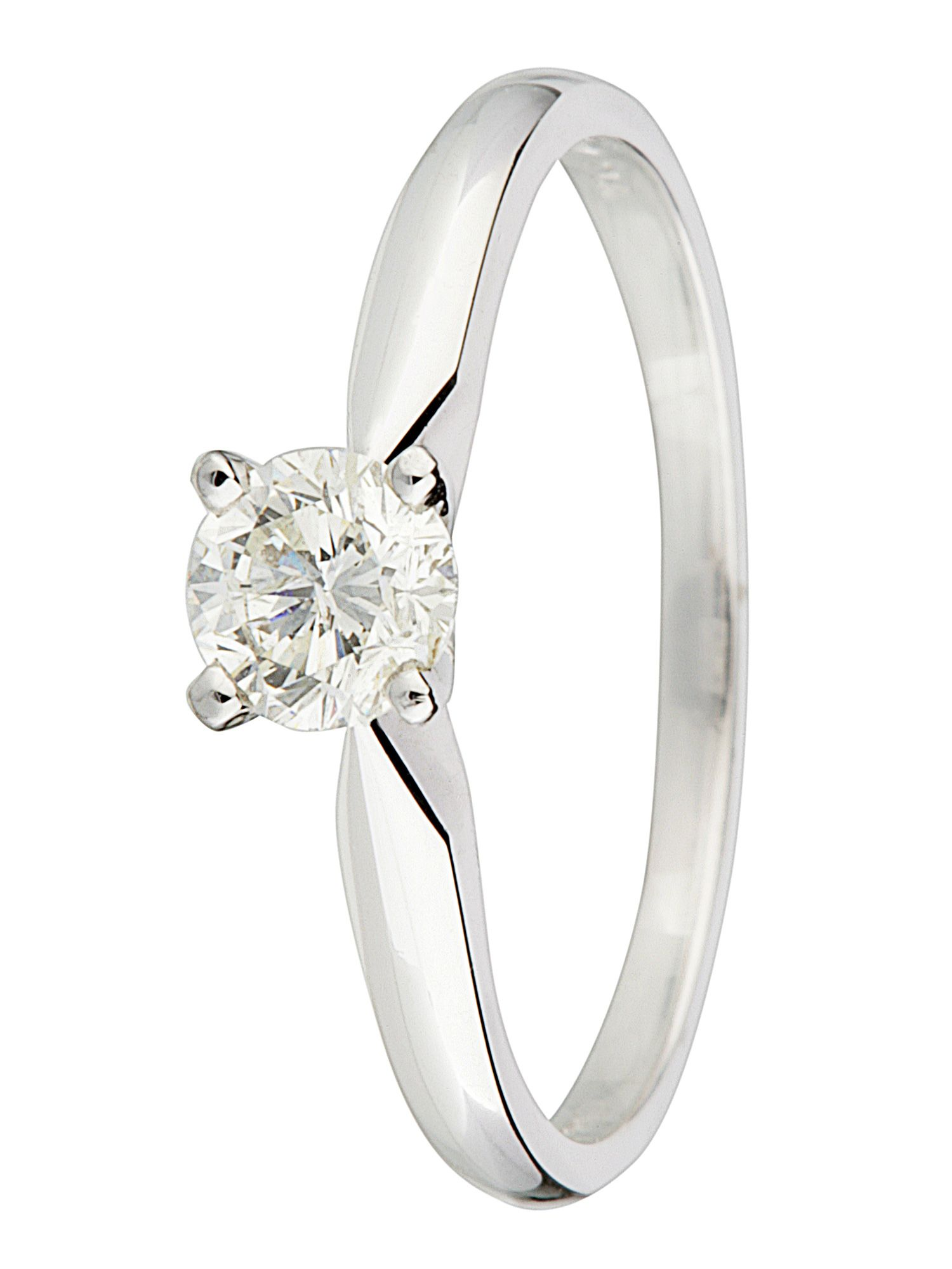 18ct gold 0.33ct brilliant cut diamond ring - White Gold