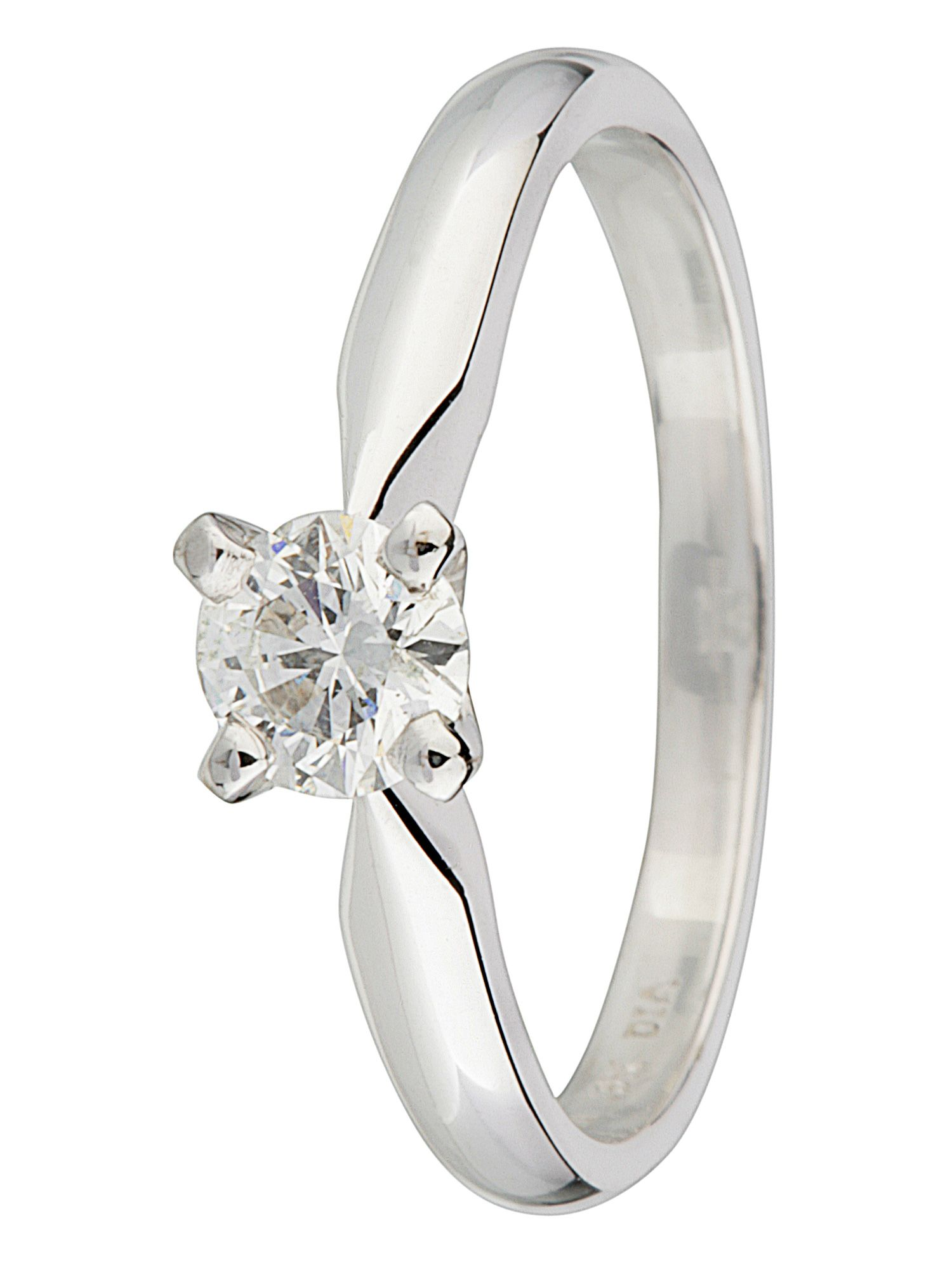 18ct gold solitaire 0.40ct diamond ring - White Gold