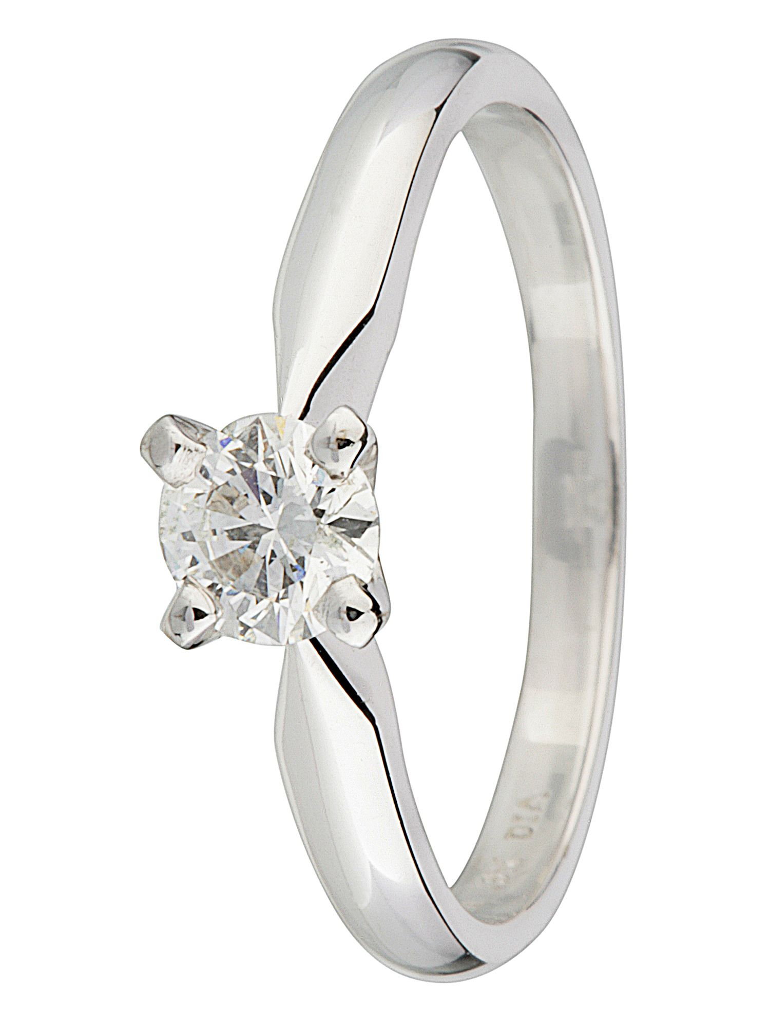 18ct gold solitaire 0.40ct diamond ring White Gold