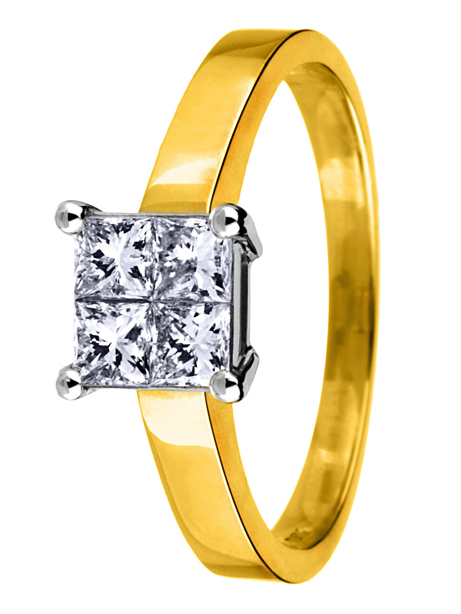 18ct gold 0.50ct solitaire diamond ring - Gold