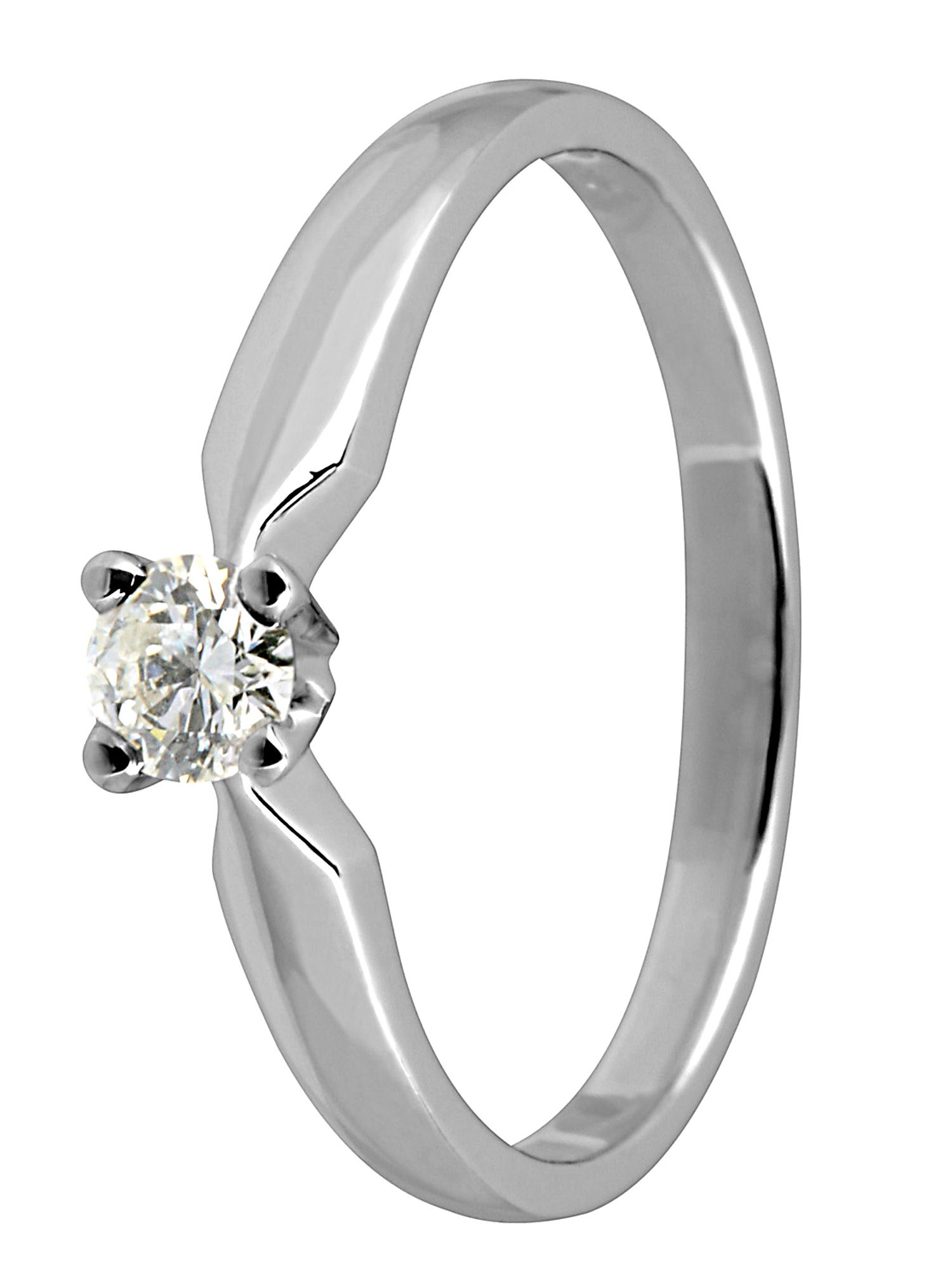 Goldsmiths 18ct white gold single stone diamond ring