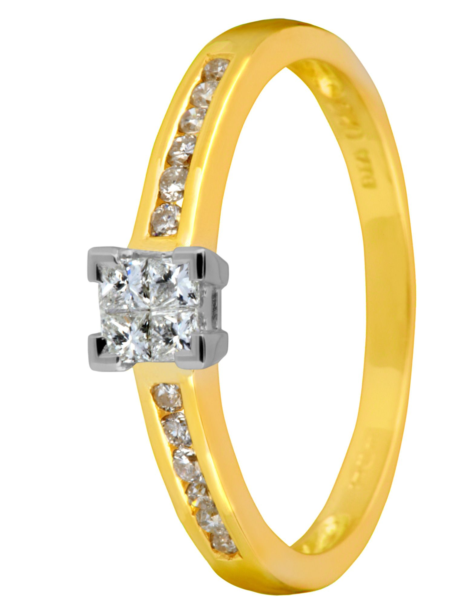 18ct yellow gold solitaire 0.25ct ring - Gold