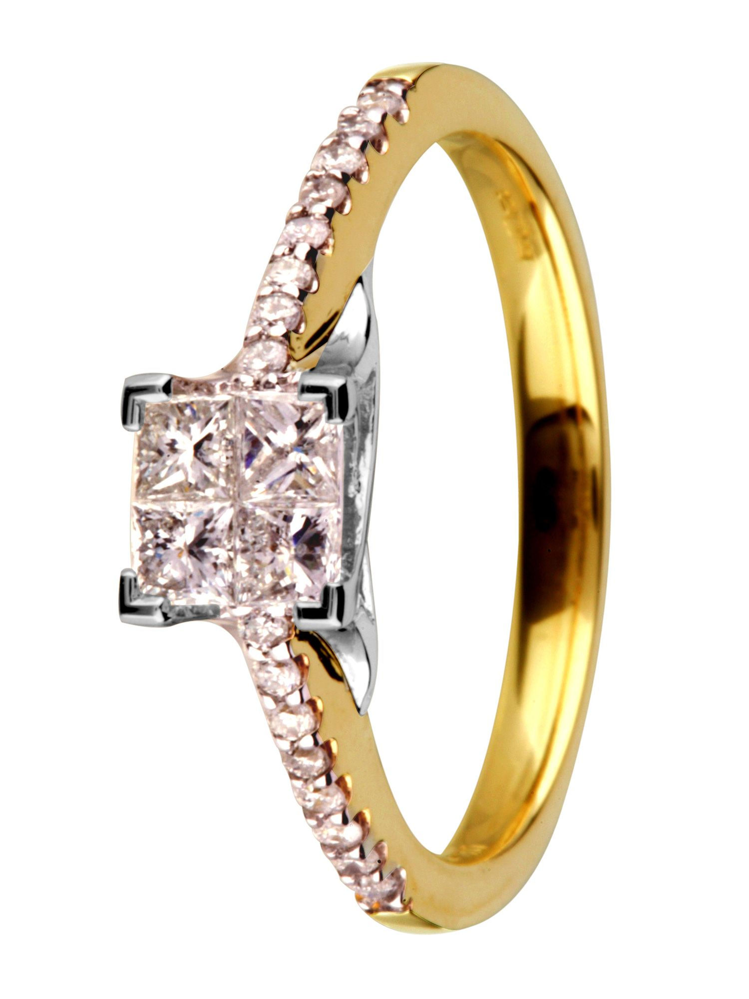 18ct yellow gold 0.50ct diamond ring - Gold