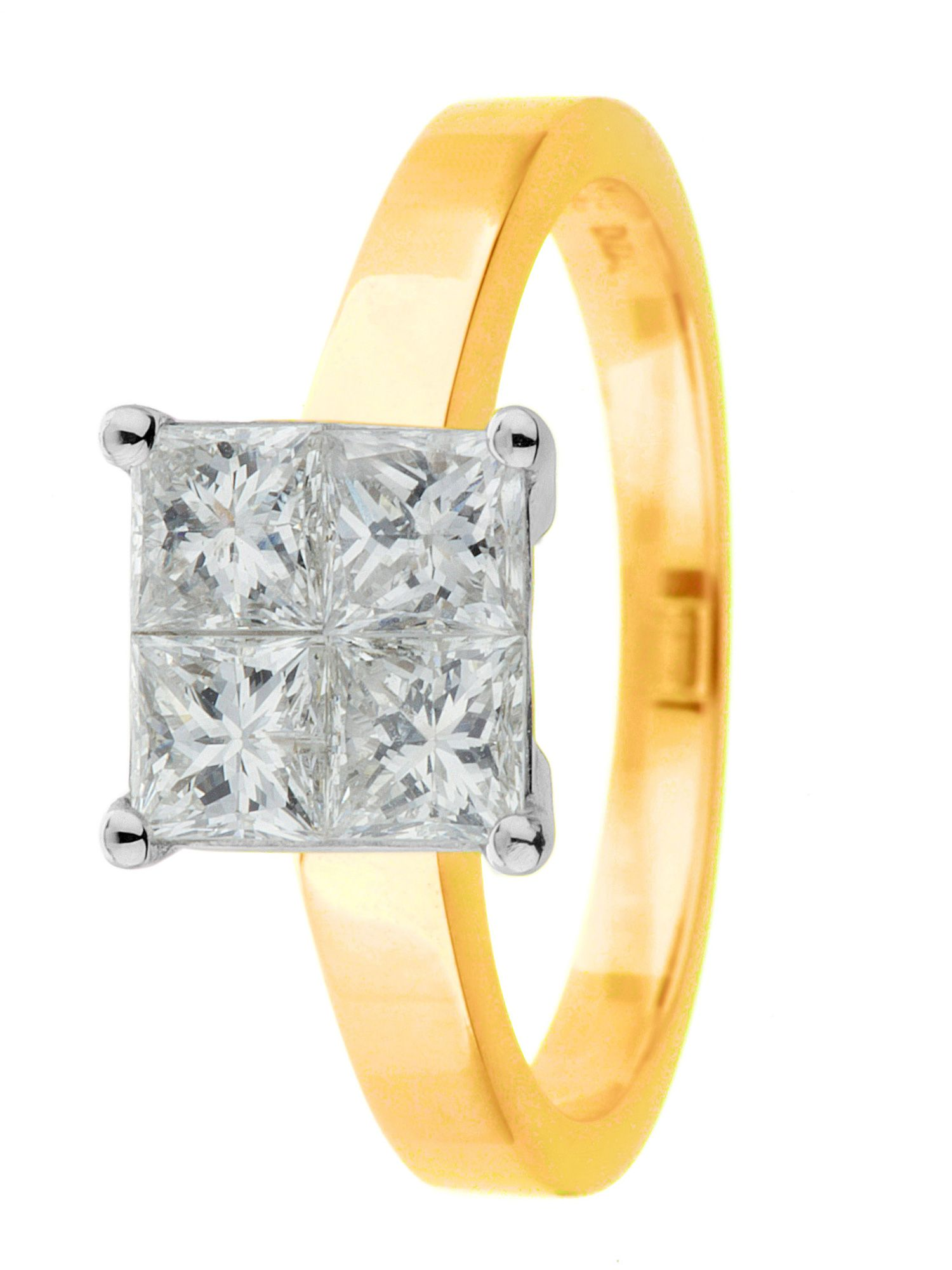 18ct yellow gold 1.00ct diamond ring - Gold