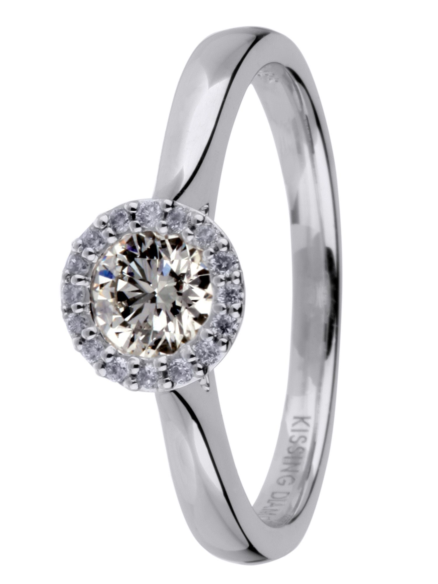 18ct gold 0.63ct diamond solitaire ring - White Gold