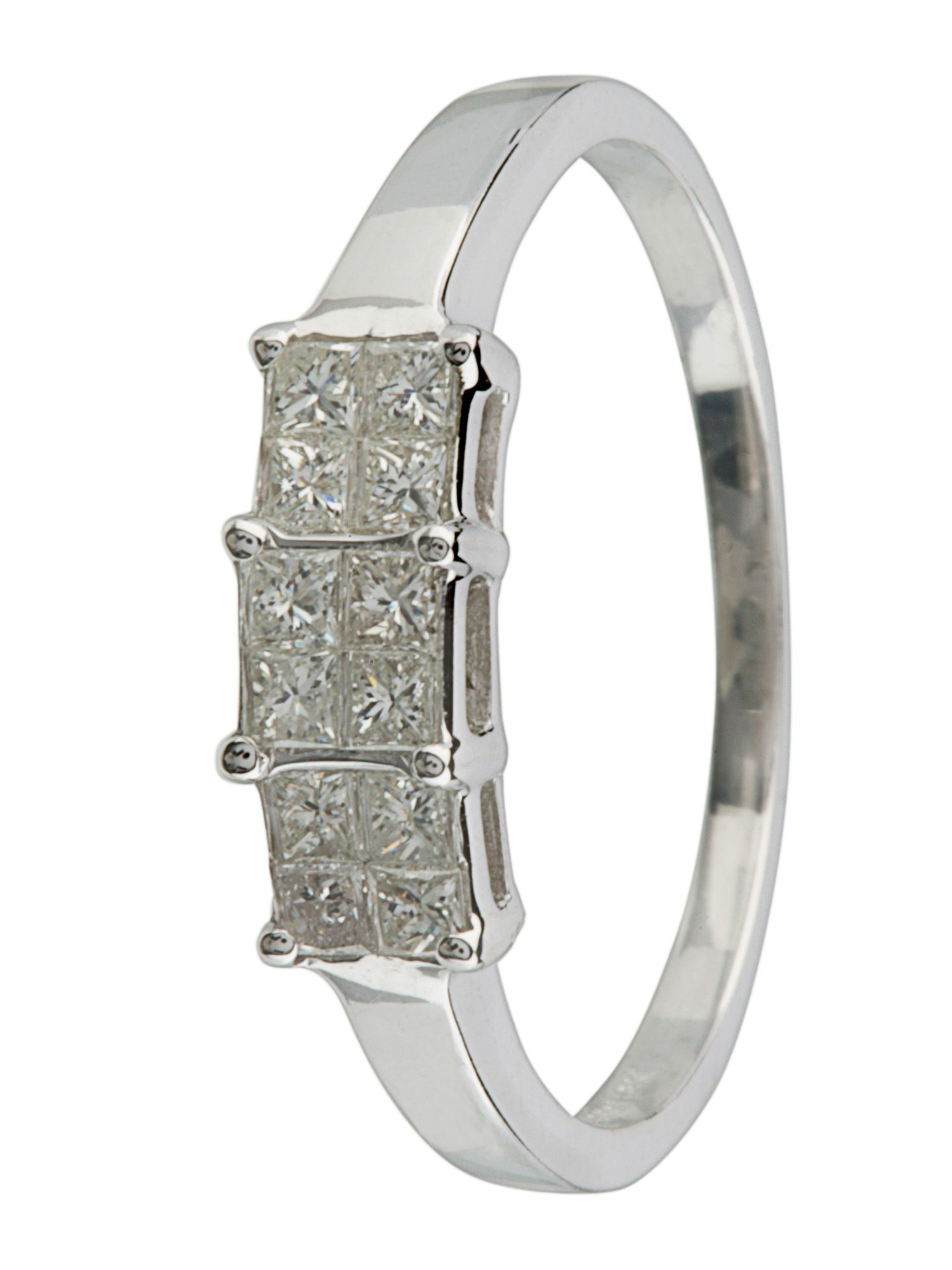 18ct white gold 0.25ct diamond ring