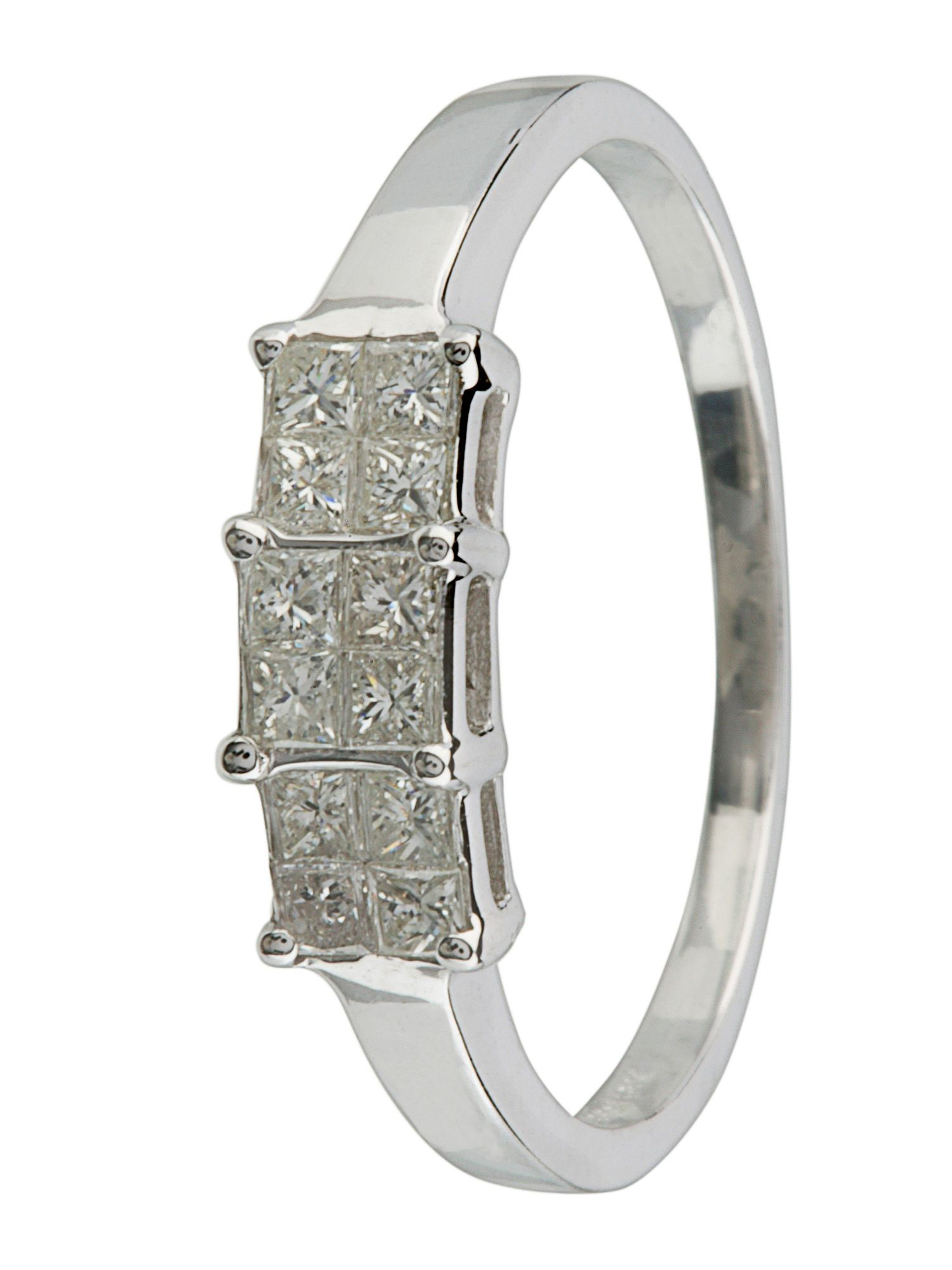 18ct white gold 0.25ct diamond ring White Gold