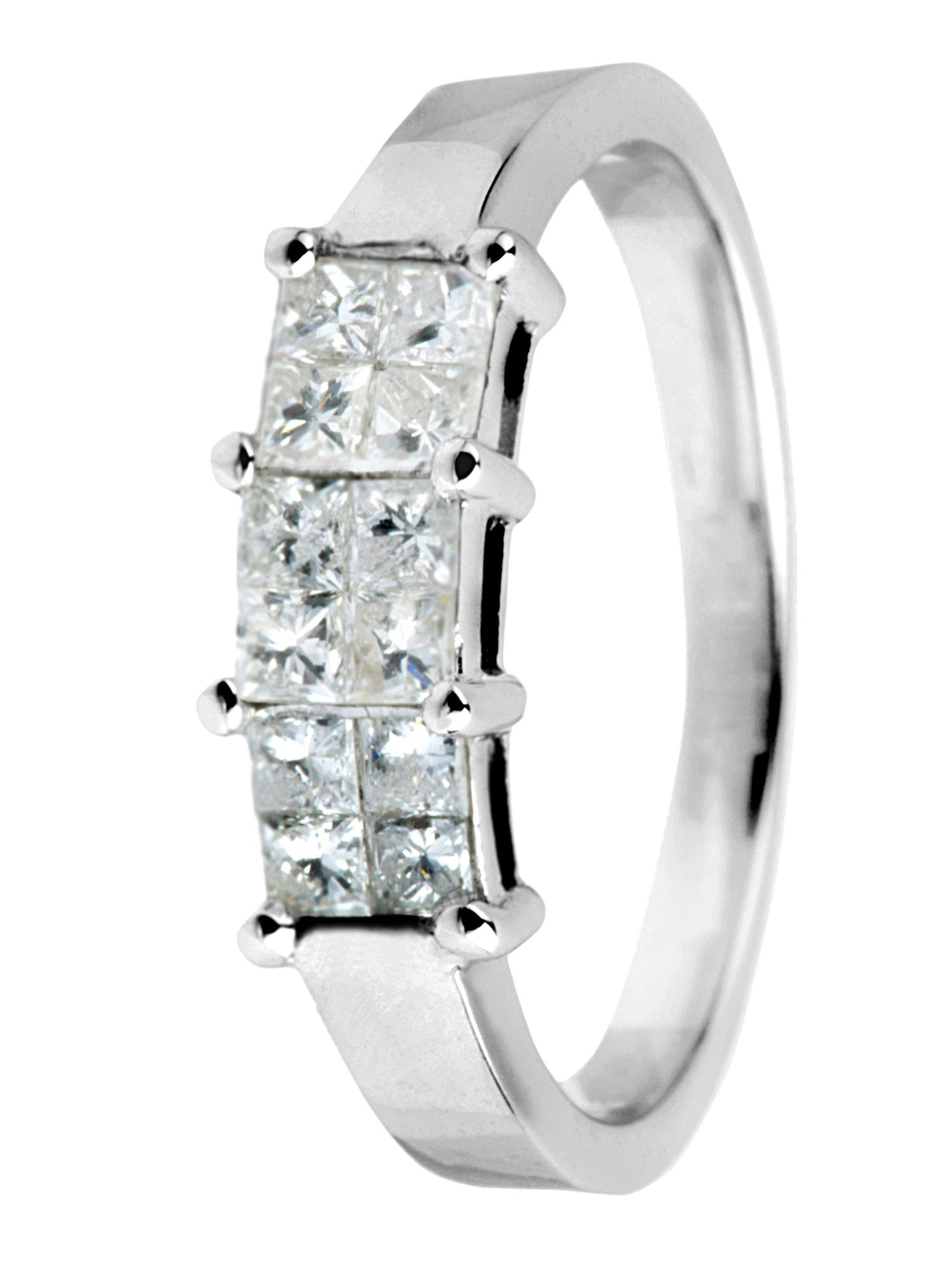18ct gold 0.50ct princess cut diamond ring - White Gold