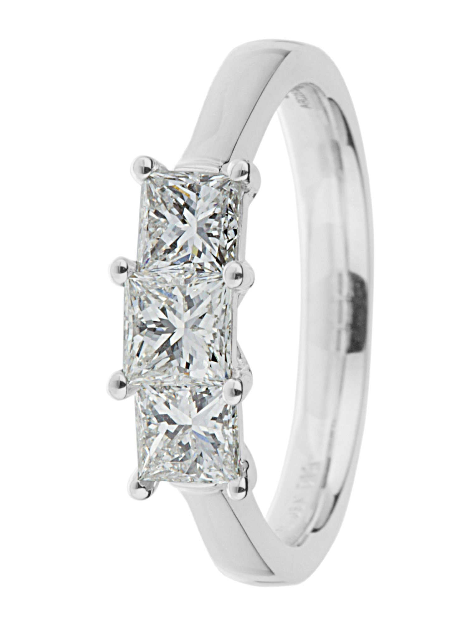 Ardesco platinum 1.00ct diamond ring Silver