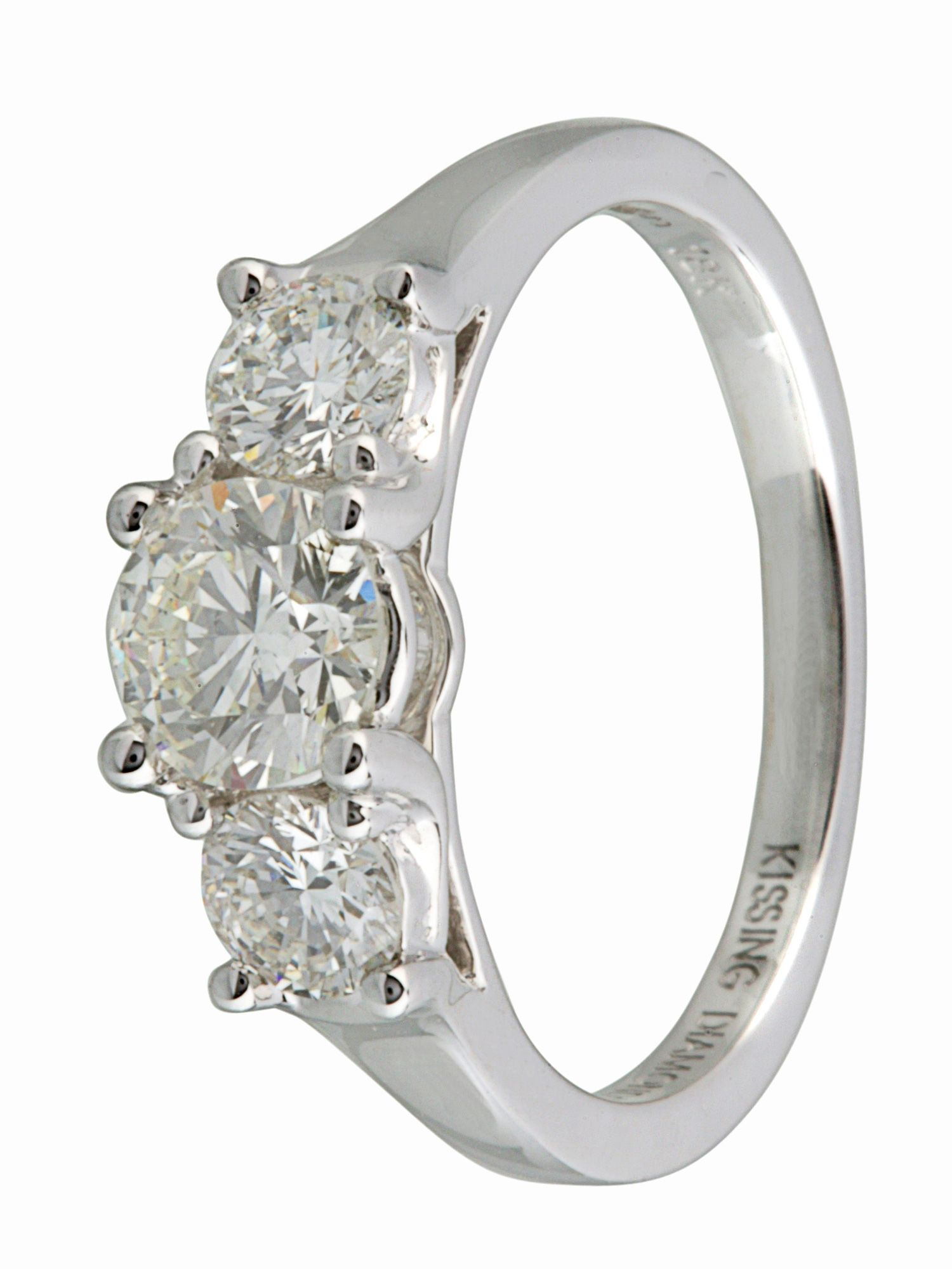 Kissing Diamonds Kissing diamond 18ct gold 1.00ct diamond ring, White Gold
