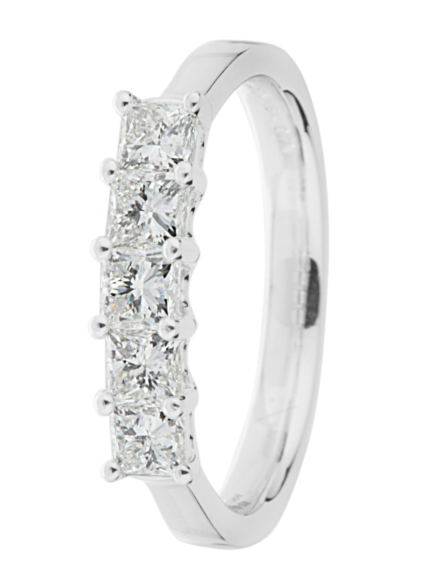 Goldsmiths Ardesco 18ct gold 1.00ct diamond ring White Gold