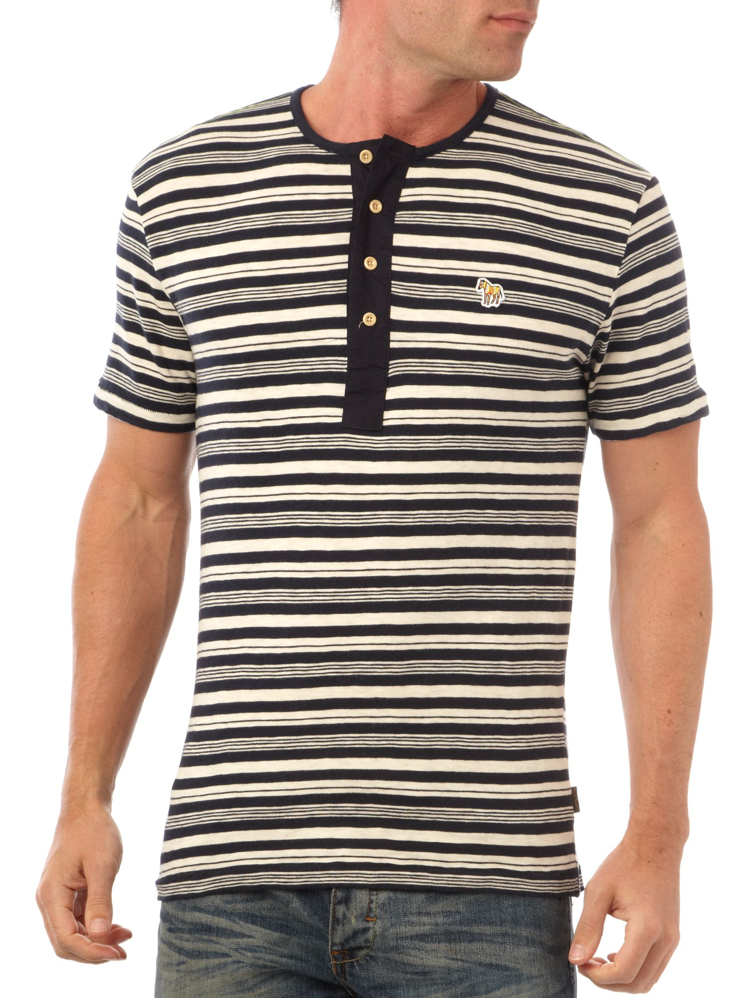 Paul Smith Jeans Henley stripe t-shirt product image