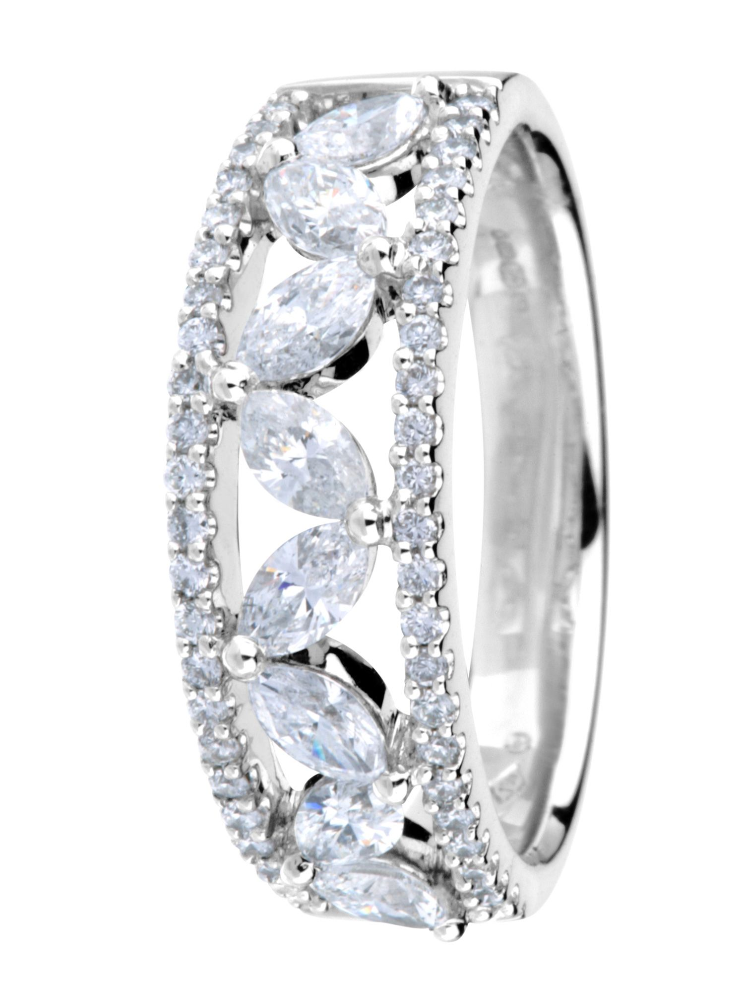 Goldsmiths 18ct white gold 1.00ct diamond ring, White Gold