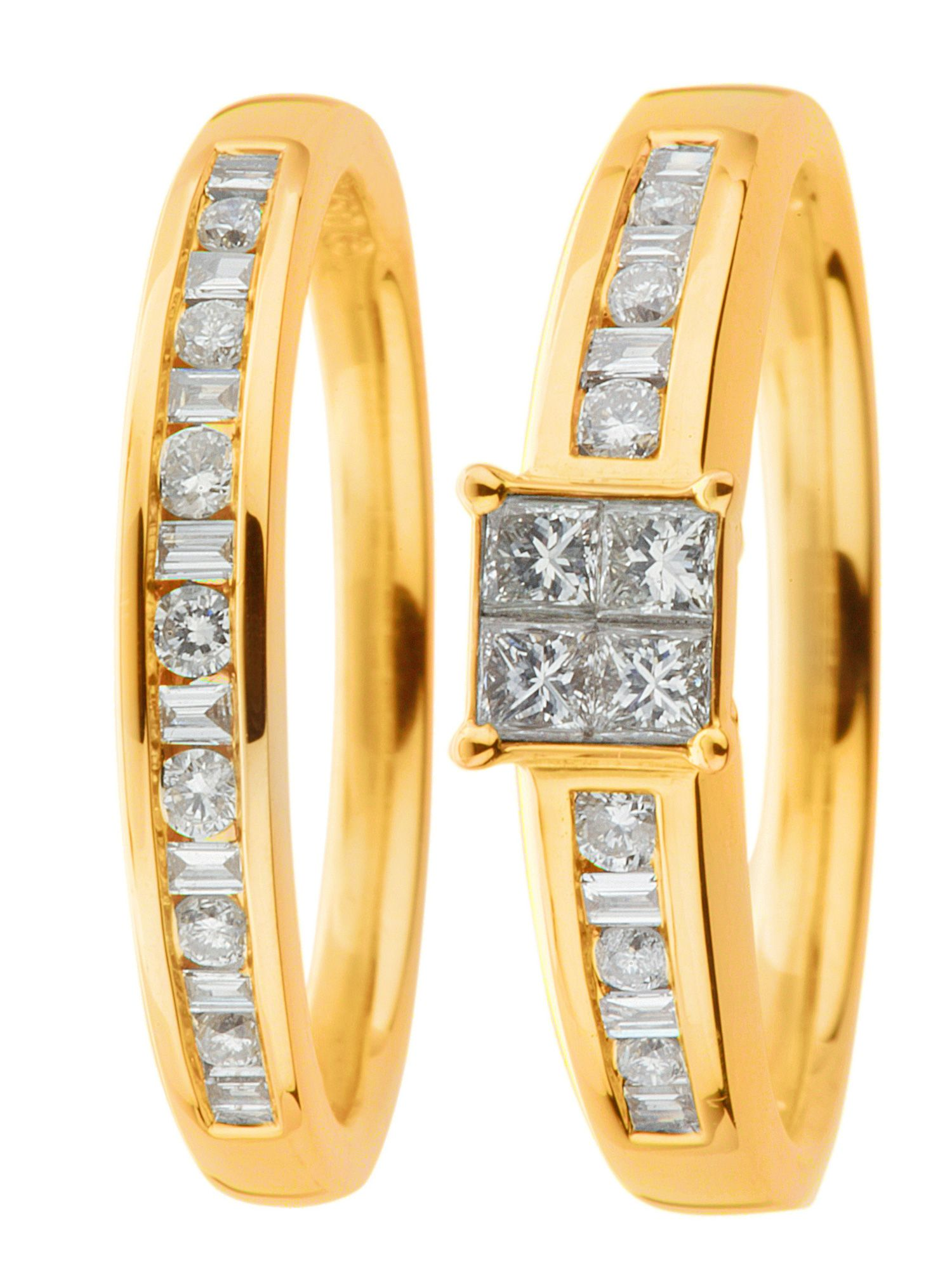 18ct gold 0.33ct diamond wedding set