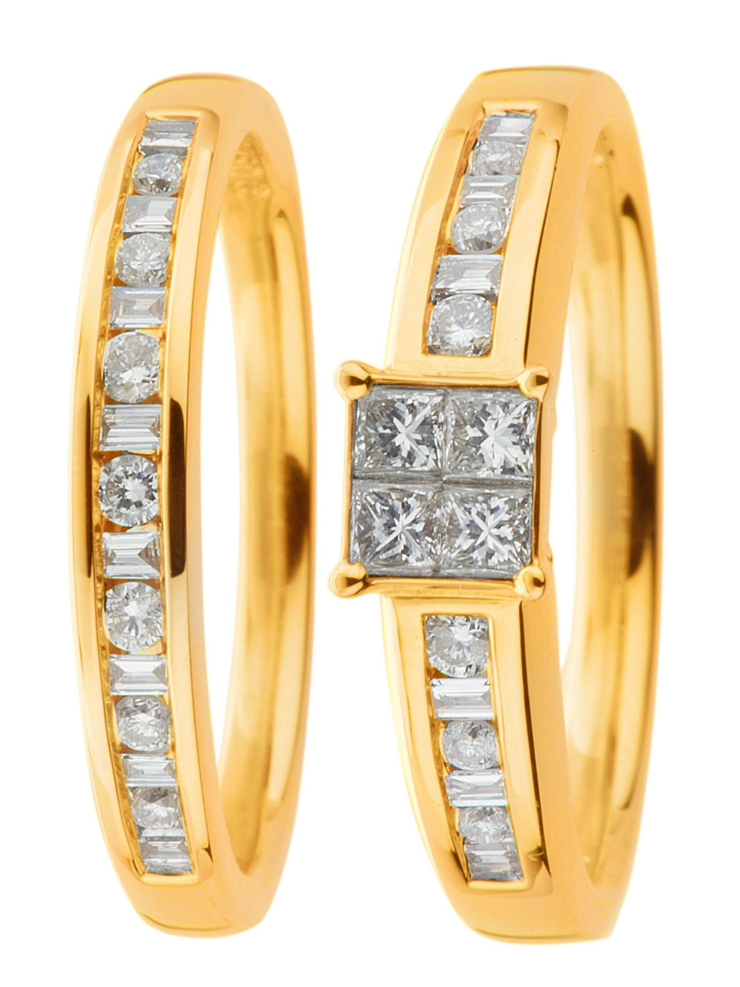 18ct gold 0.50ct, i1 clarity diamond wedding set