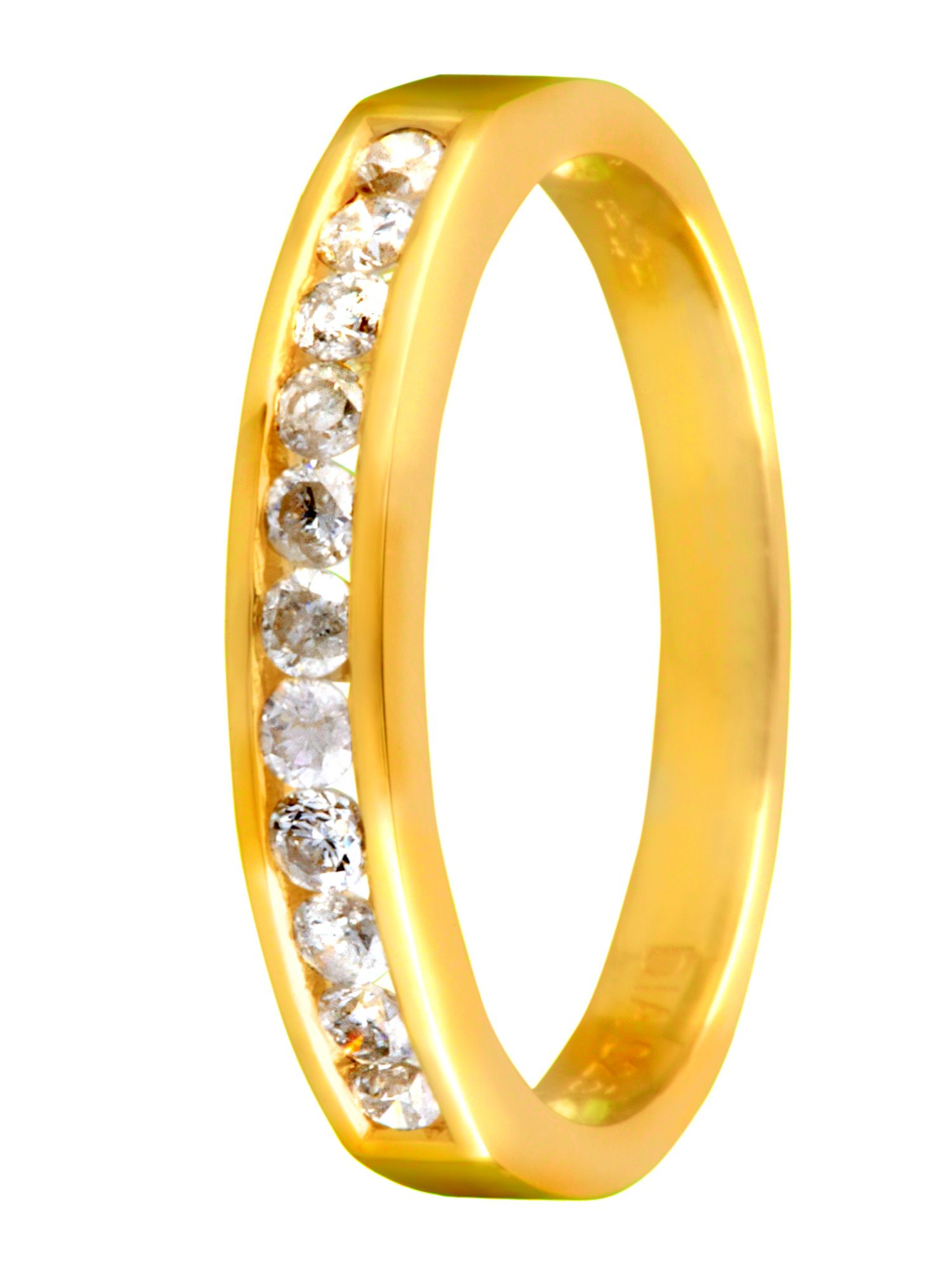 18ct yellow gold and diamond eternity ring - Gold