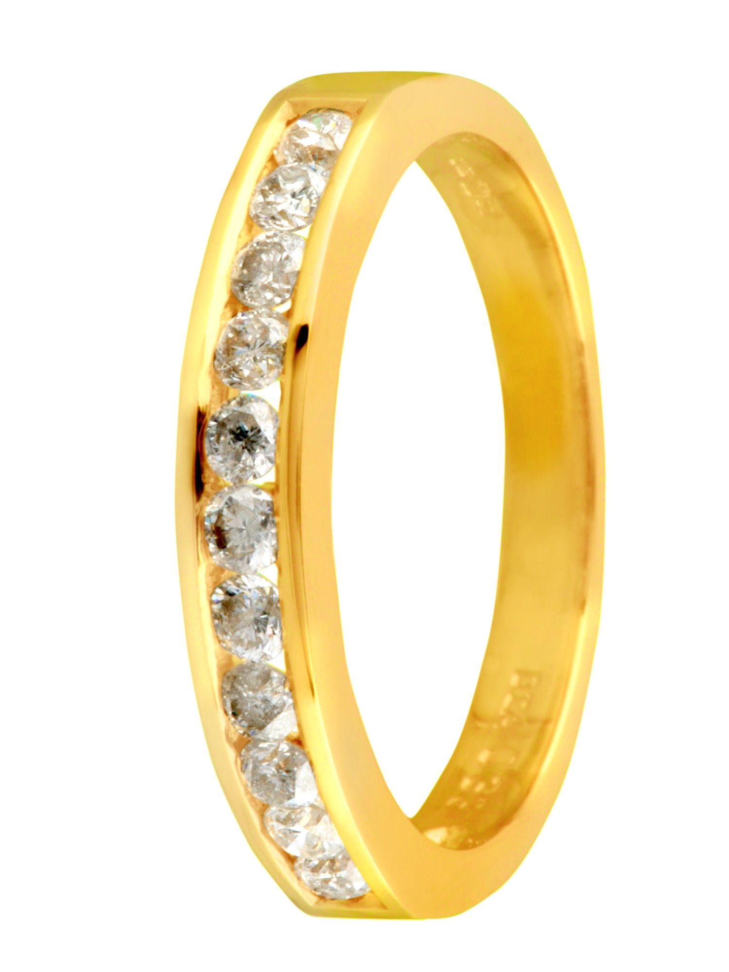 18ct yellow gold diamond channel eternity ring