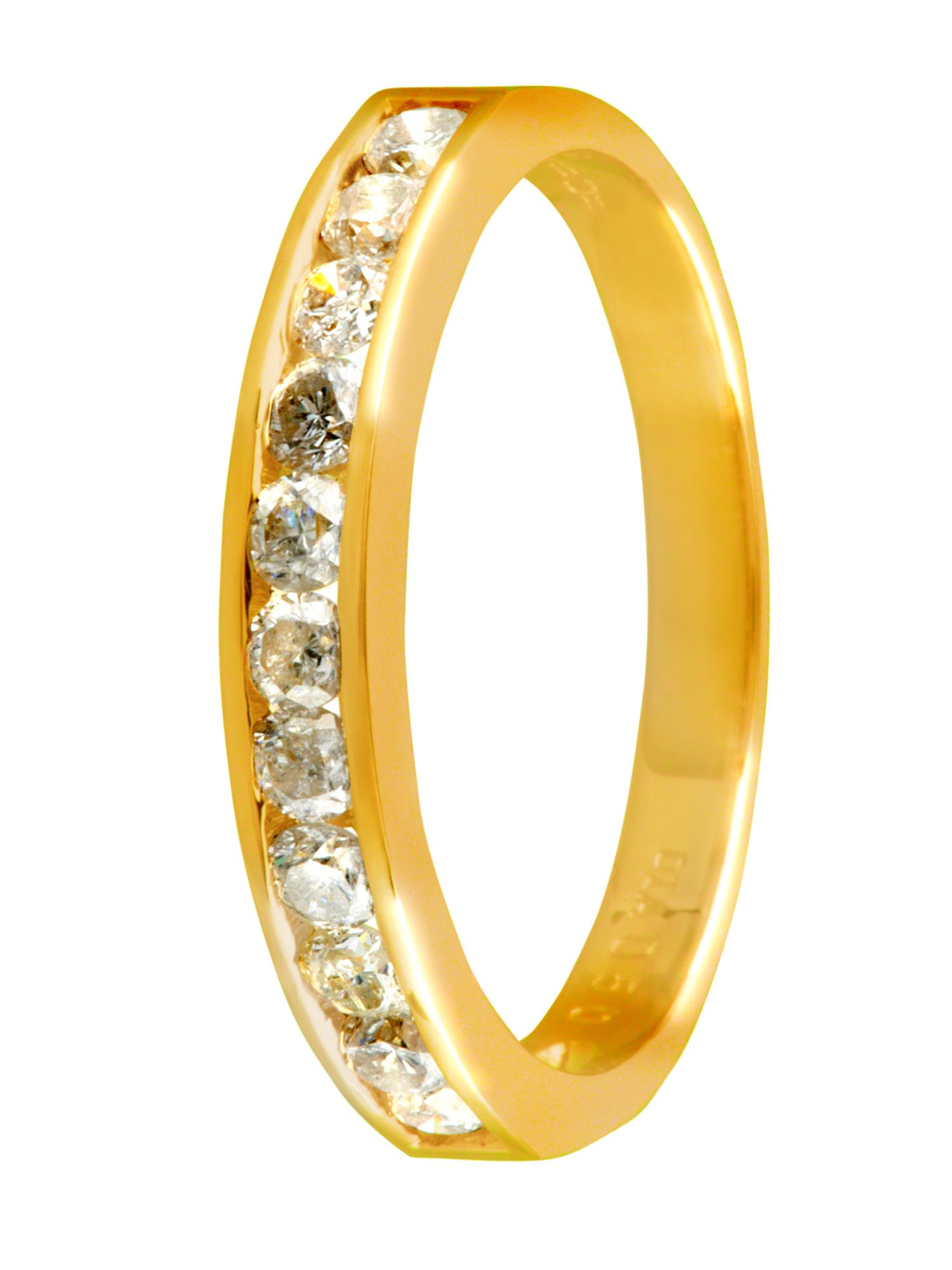 18ct yellow gold 0.50ct channel eternity ring
