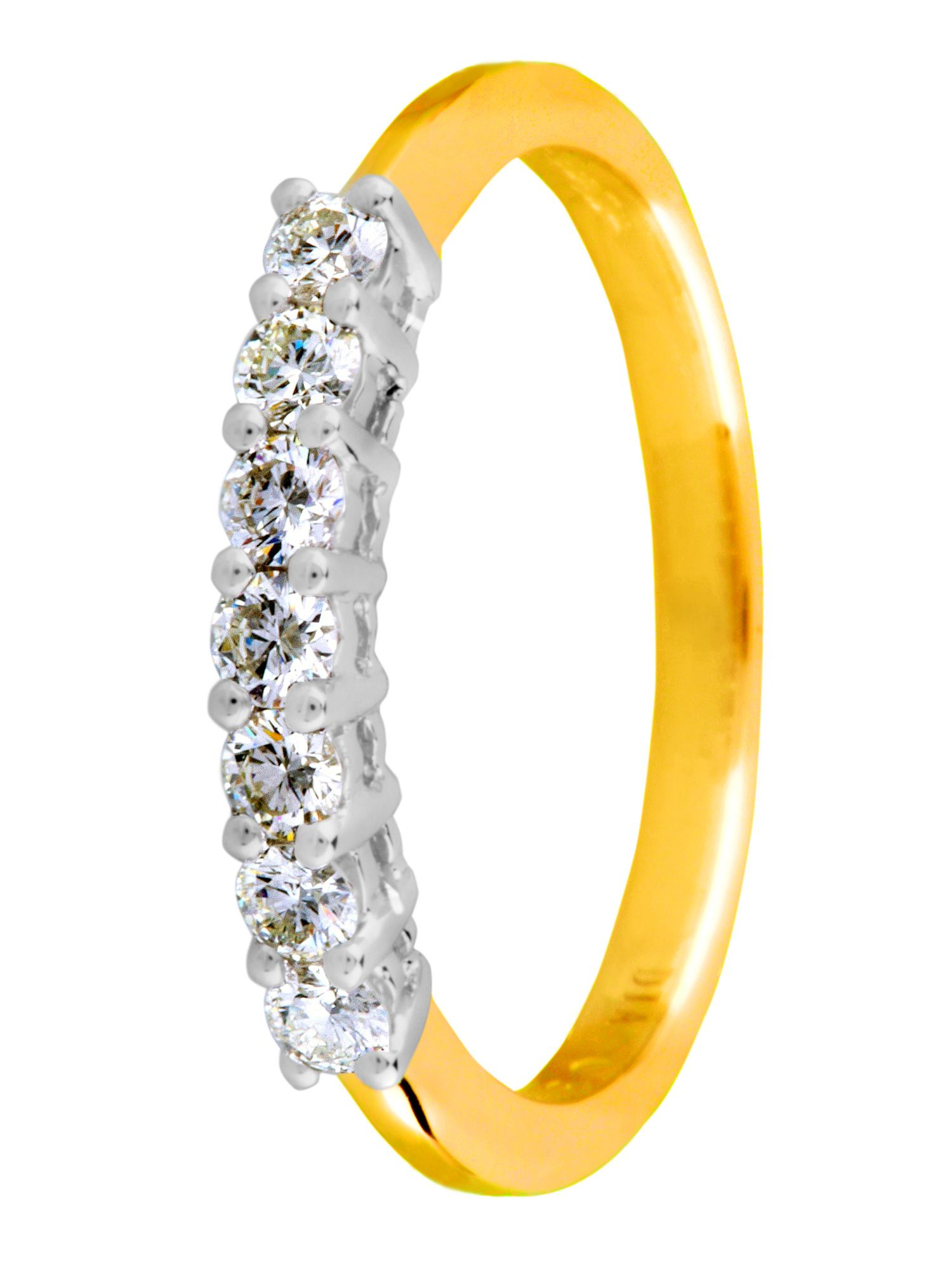 18ct gold 0.33ct claw eternity diamond ring - Gold