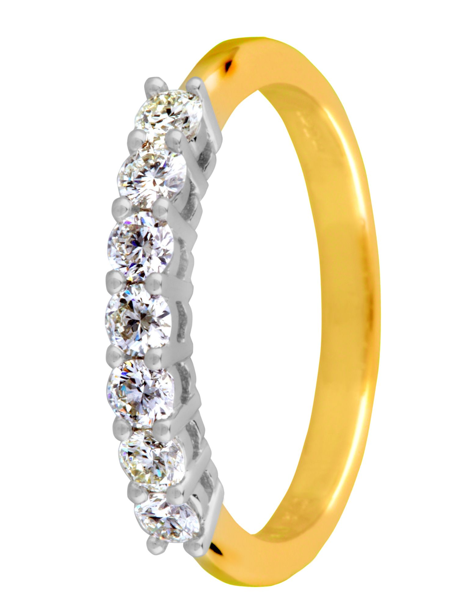 18ct gold 0.50ct diamond eternity ring - Gold