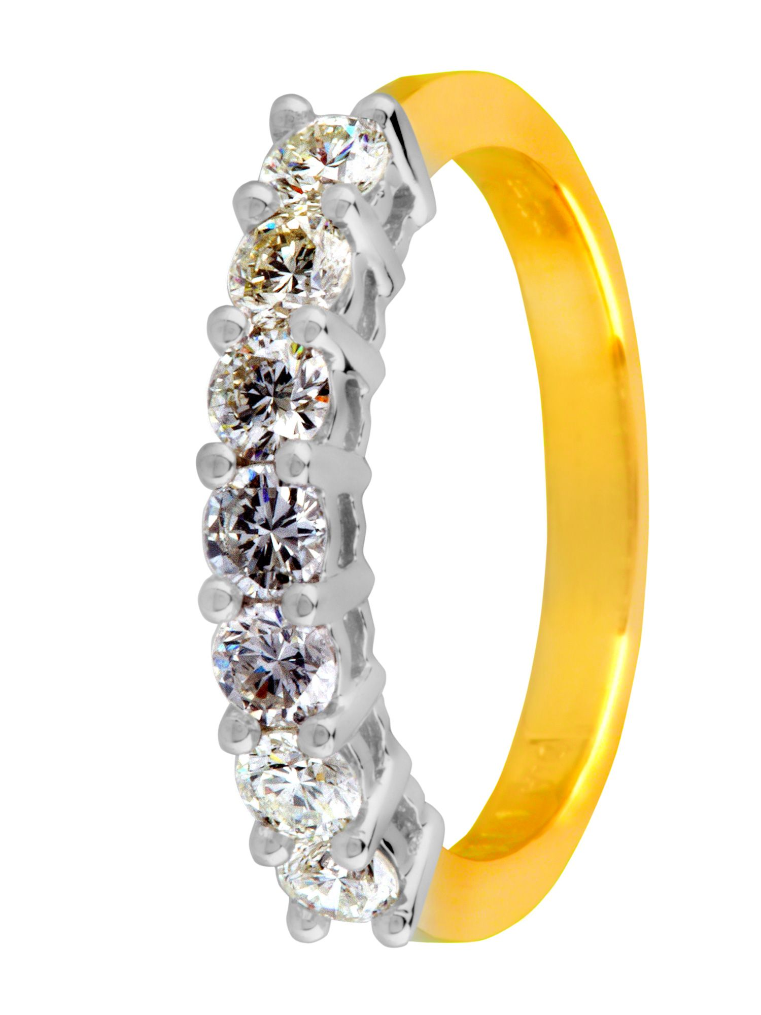 18ct gold 0.75ct diamond eternity ring - Gold