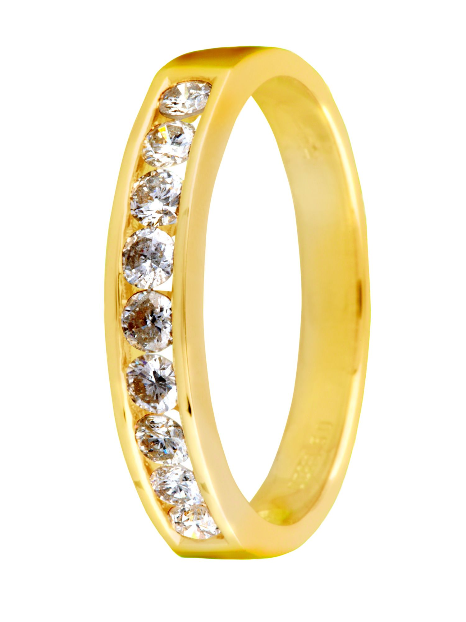 18ct gold 0.50ct channel set diamond ring