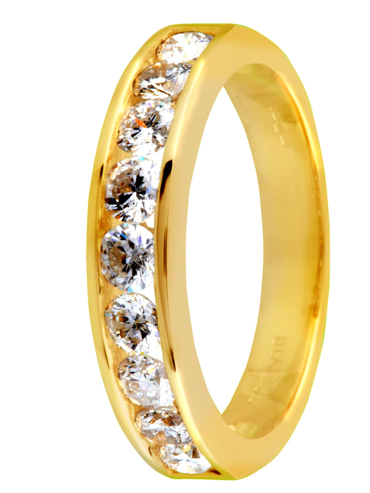 Goldsmiths 18ct gold 1.00ct diamond ring Gold