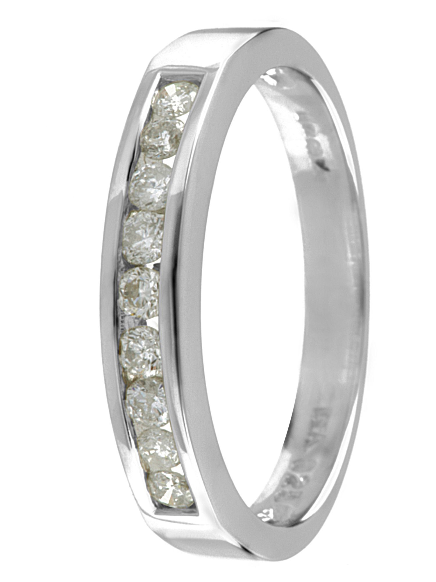 Goldsmiths 18ct white gold diamond eternity ring, White Gold