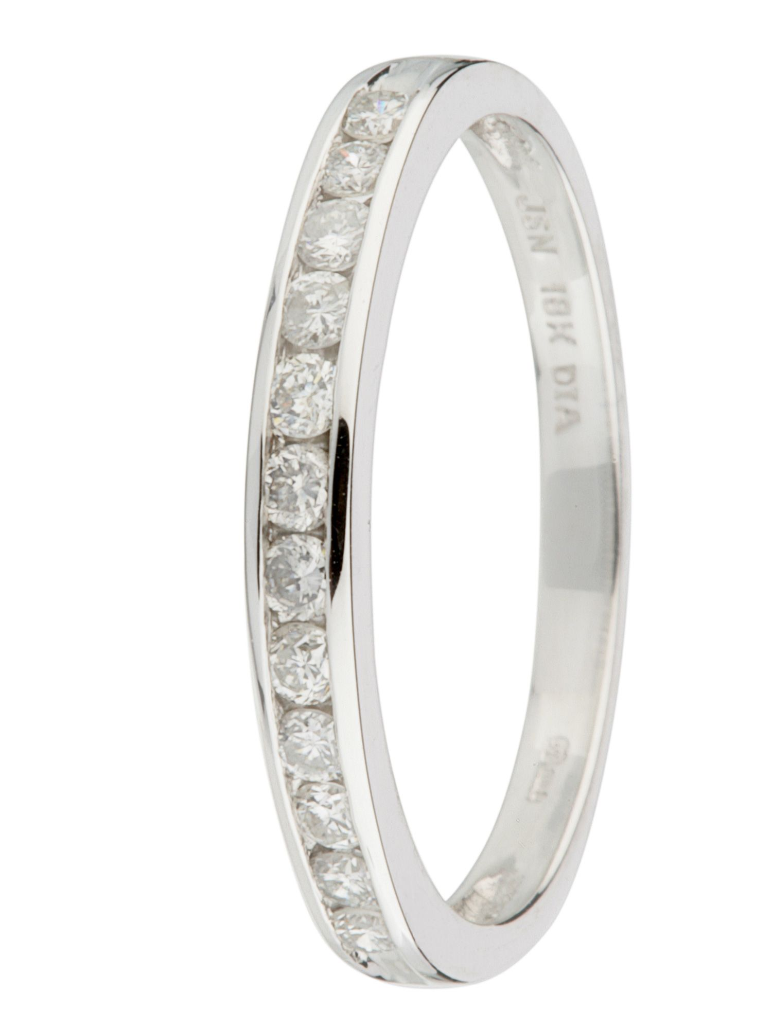 18ct gold 12 stone 0.33ct diamond ring - White Gold