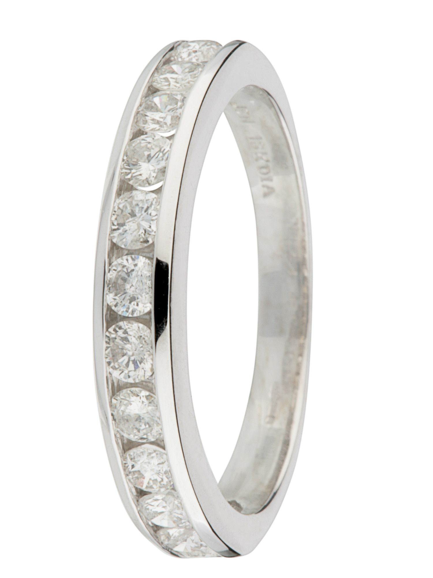 18ct gold 12 stone 0.75ct diamond ring - White Gold