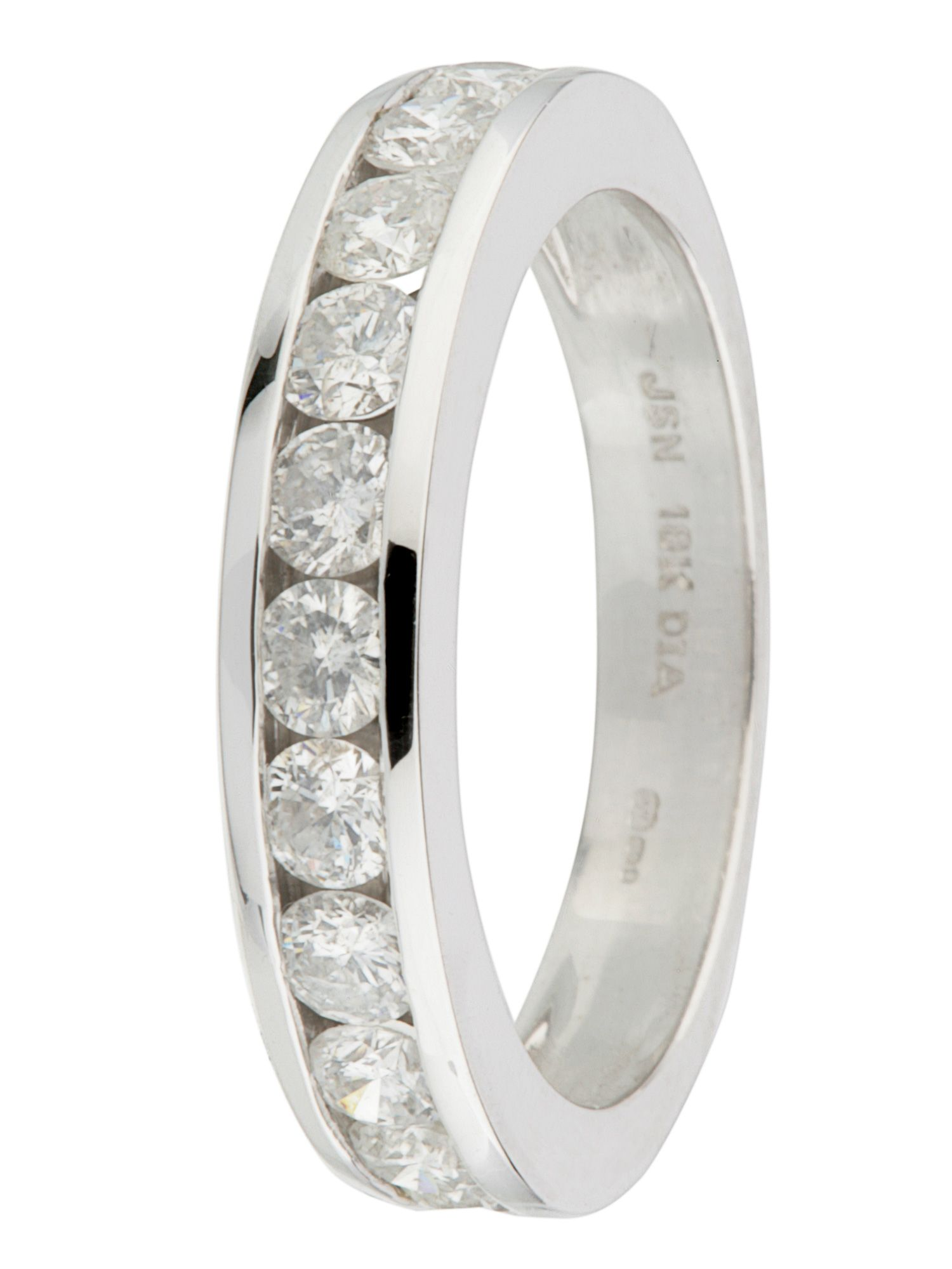 Goldsmiths 18ct gold 12 stone 1.00ct diamond ring, White Gold