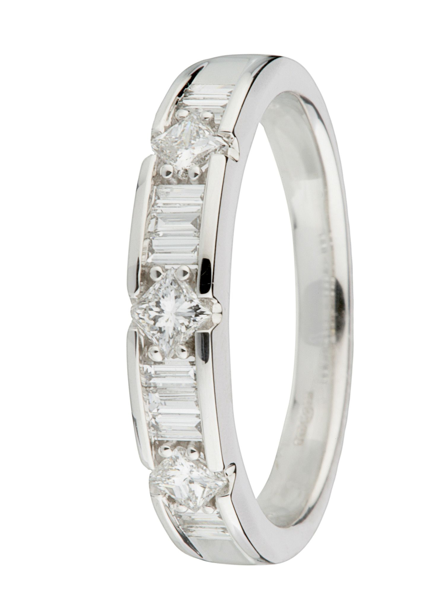 18ct gold 0.51ct half eternity ring White Gold