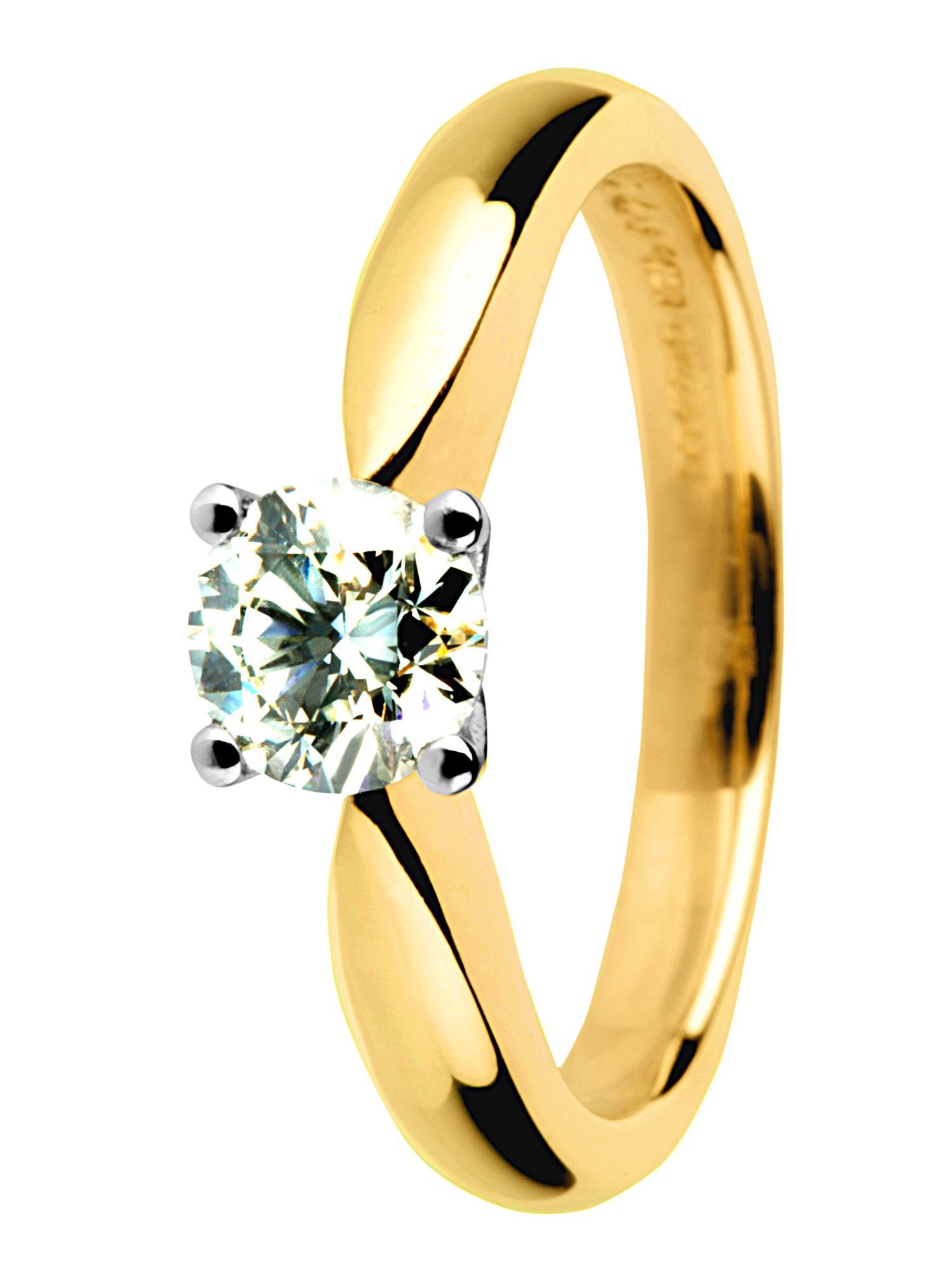 Goldsmiths 18ct yellow gold 0.75ct diamond ring
