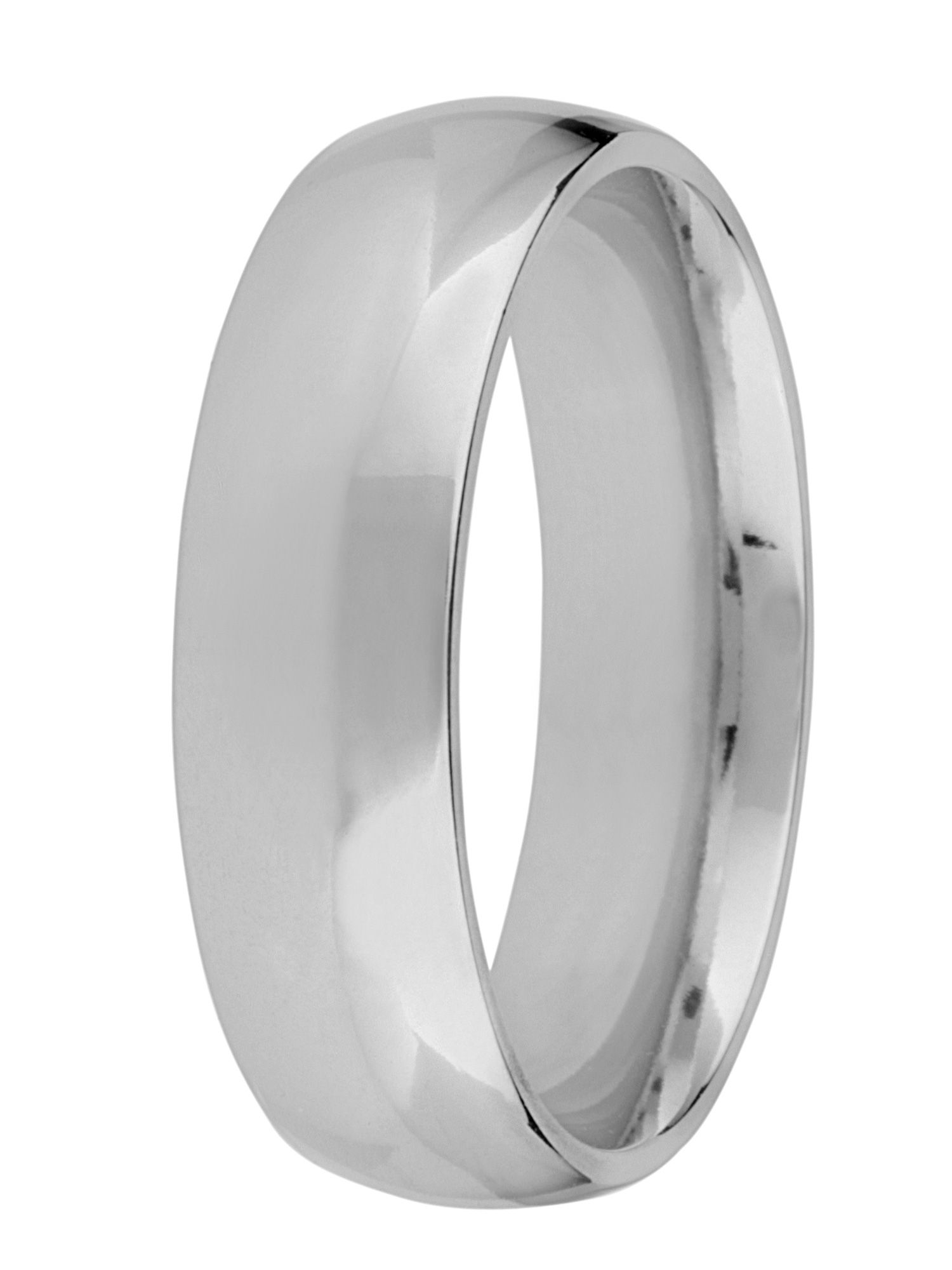 Grooms palladium heavy court 6mm wedding ring - Silver